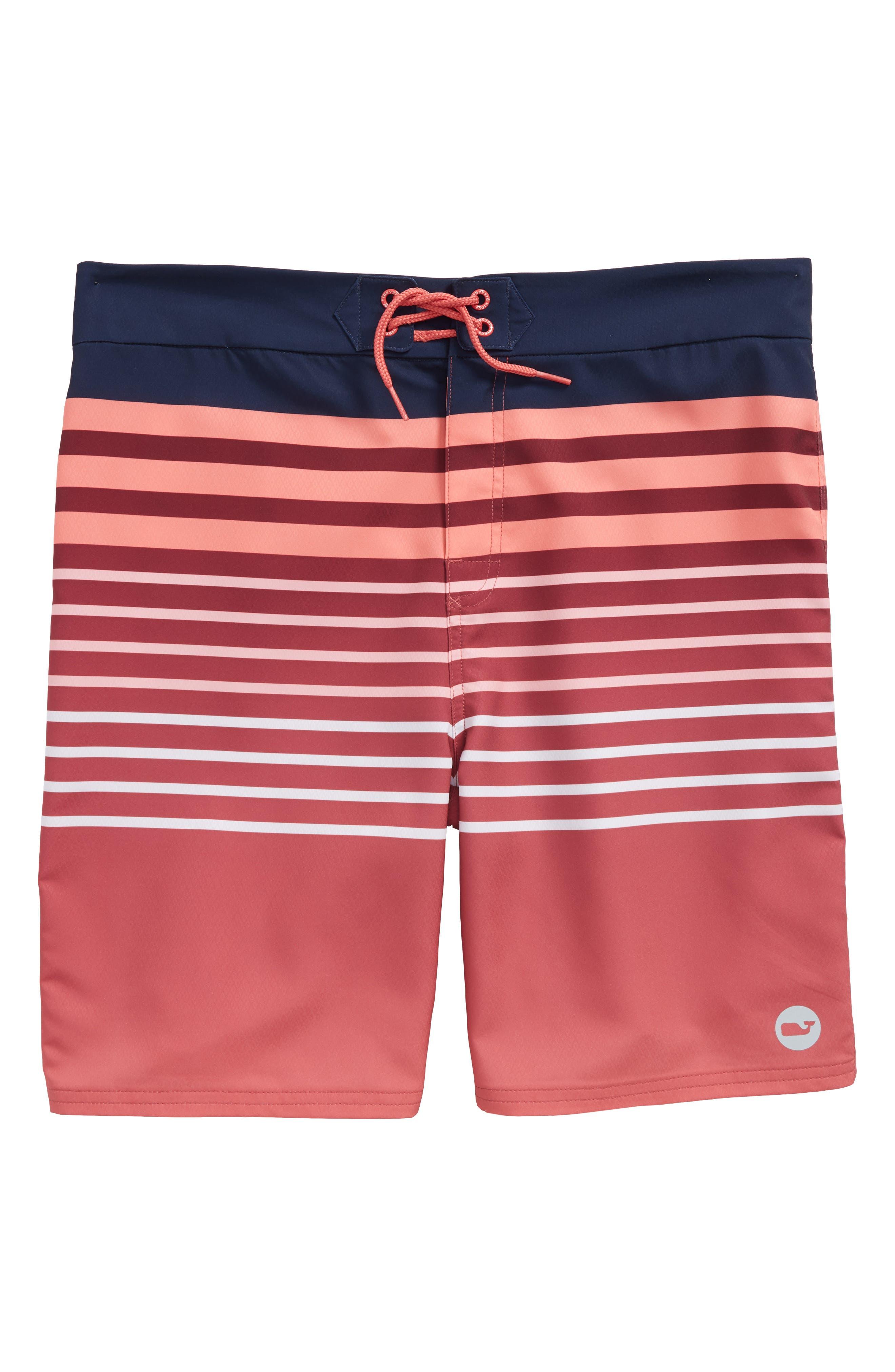 Surflodge Stripe Board Shorts,                             Main thumbnail 1, color,                             628
