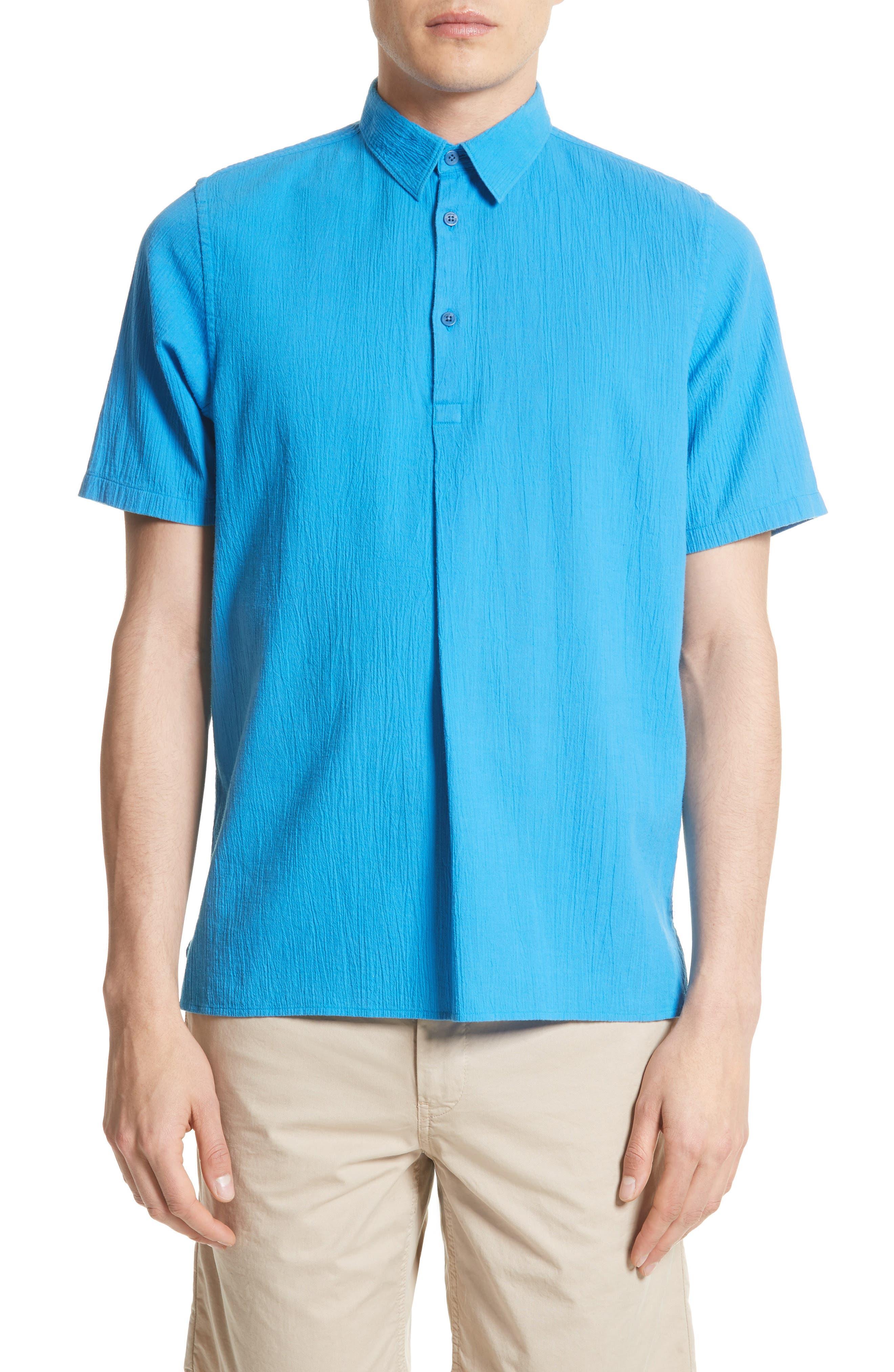 Theo Cotton & Linen Sport Shirt,                         Main,                         color, 401