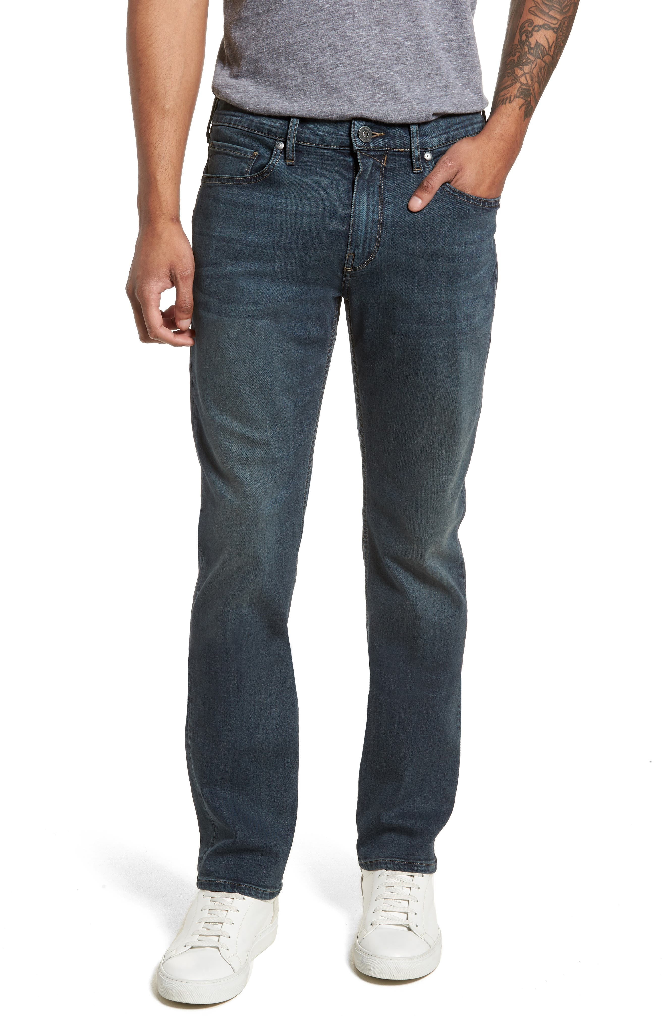 Byron Slim Straight Fit Jeans,                             Main thumbnail 1, color,                             424