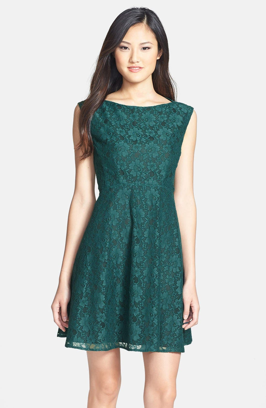Fit & Flare Dress,                             Main thumbnail 1, color,                             325
