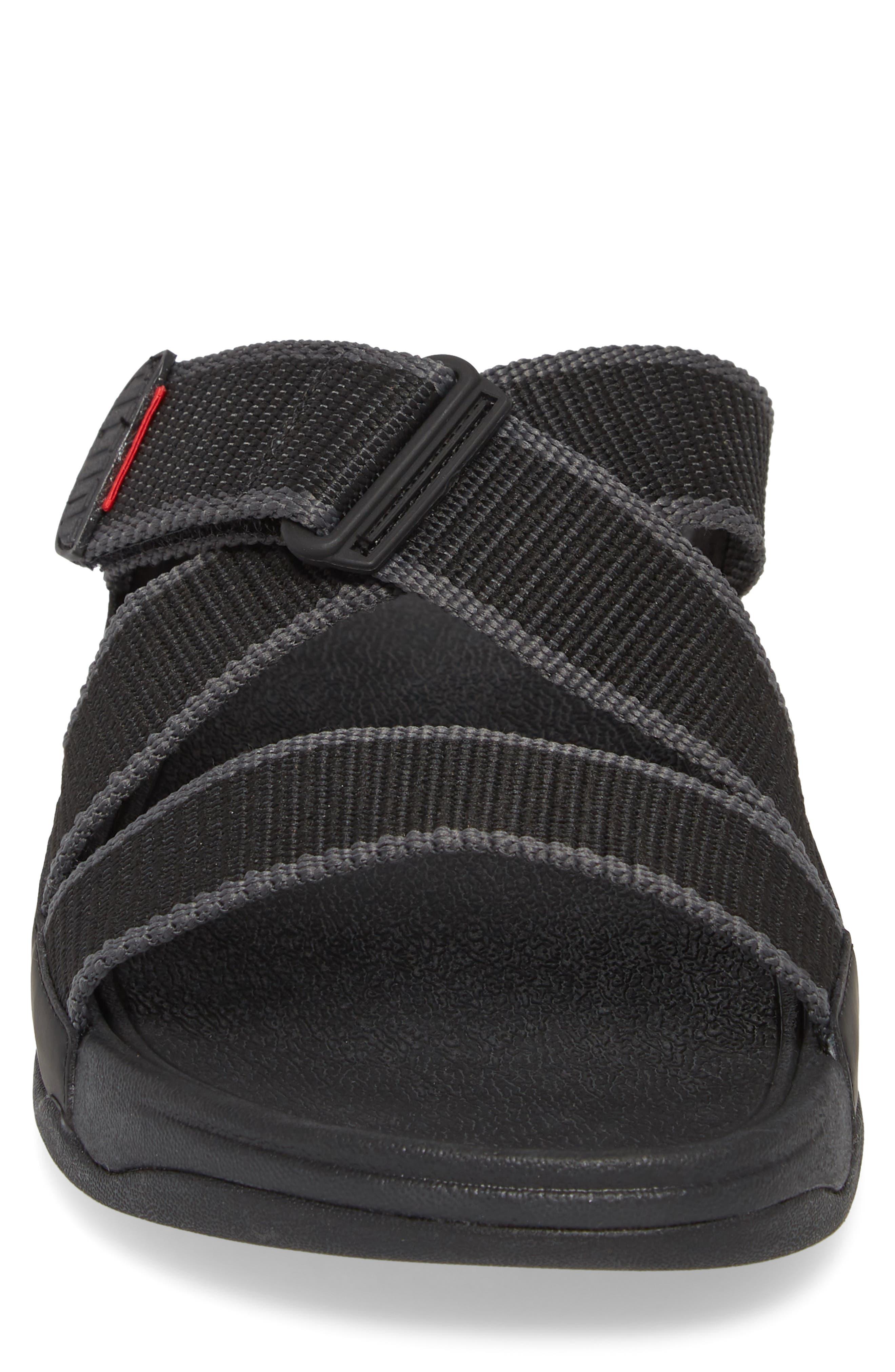 Sling II Slide Sandal,                             Alternate thumbnail 4, color,                             BLACK/ DARK SHADOW