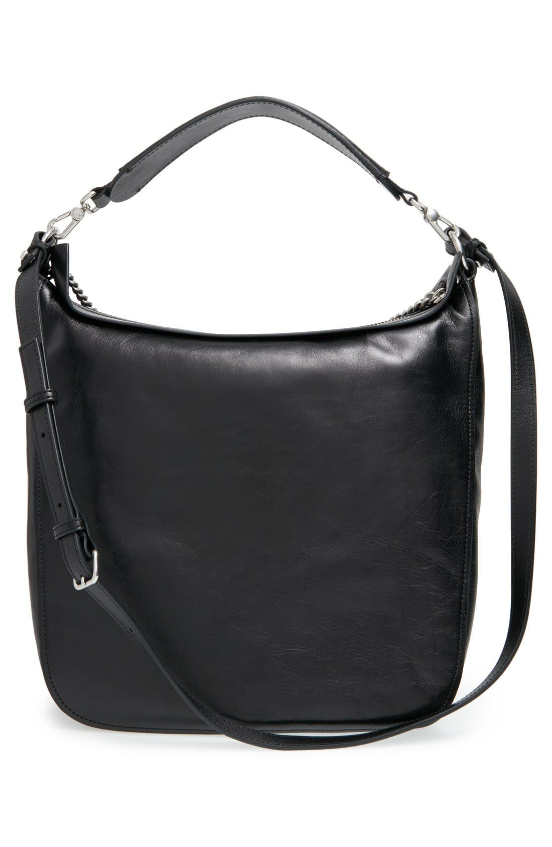 MARC BY MARC JACOBS 'Top of the Chain' Leather Hobo,                             Alternate thumbnail 5, color,                             001