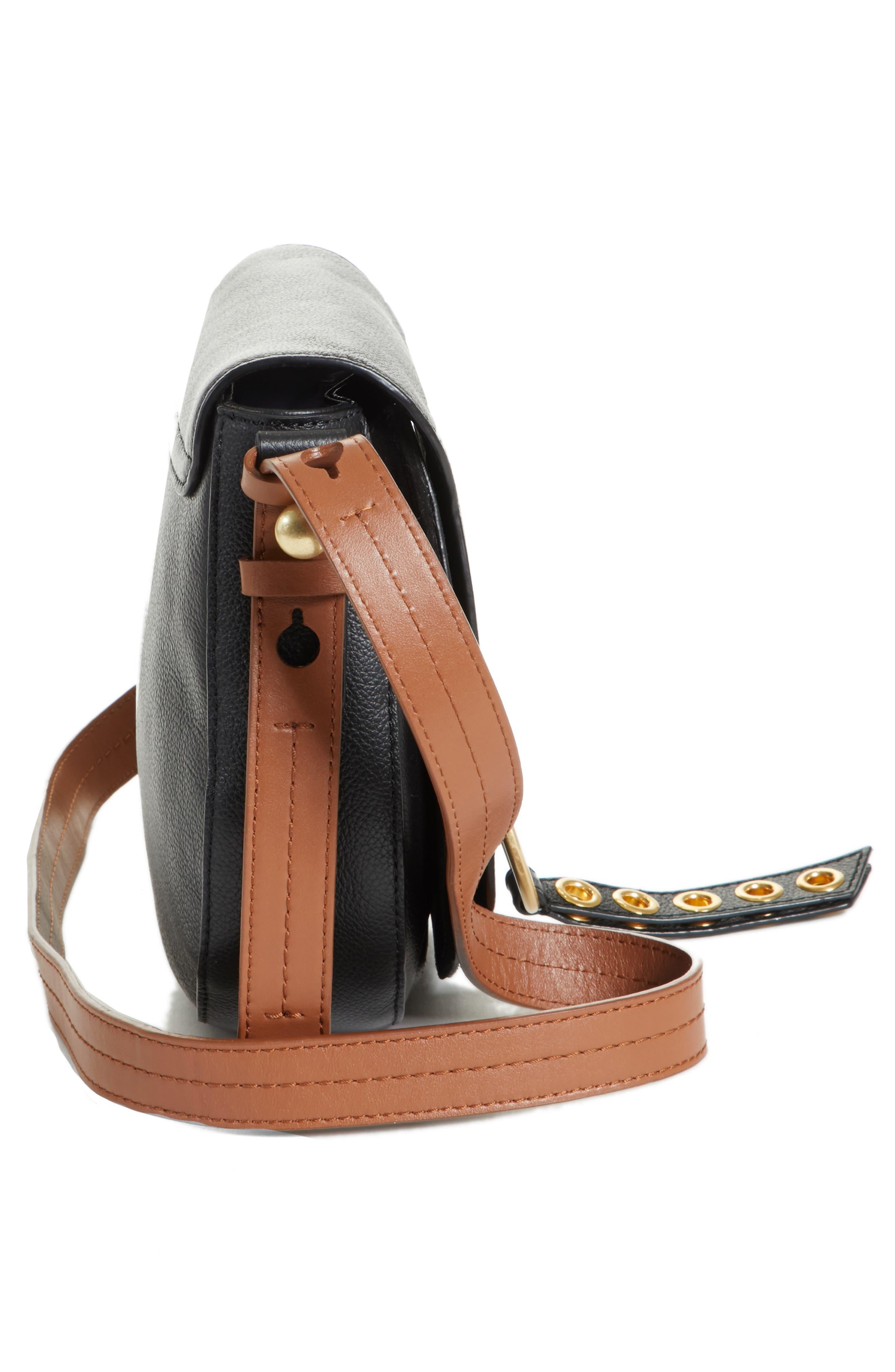 Small Lumir Leather Crossbody Bag,                             Alternate thumbnail 5, color,                             001