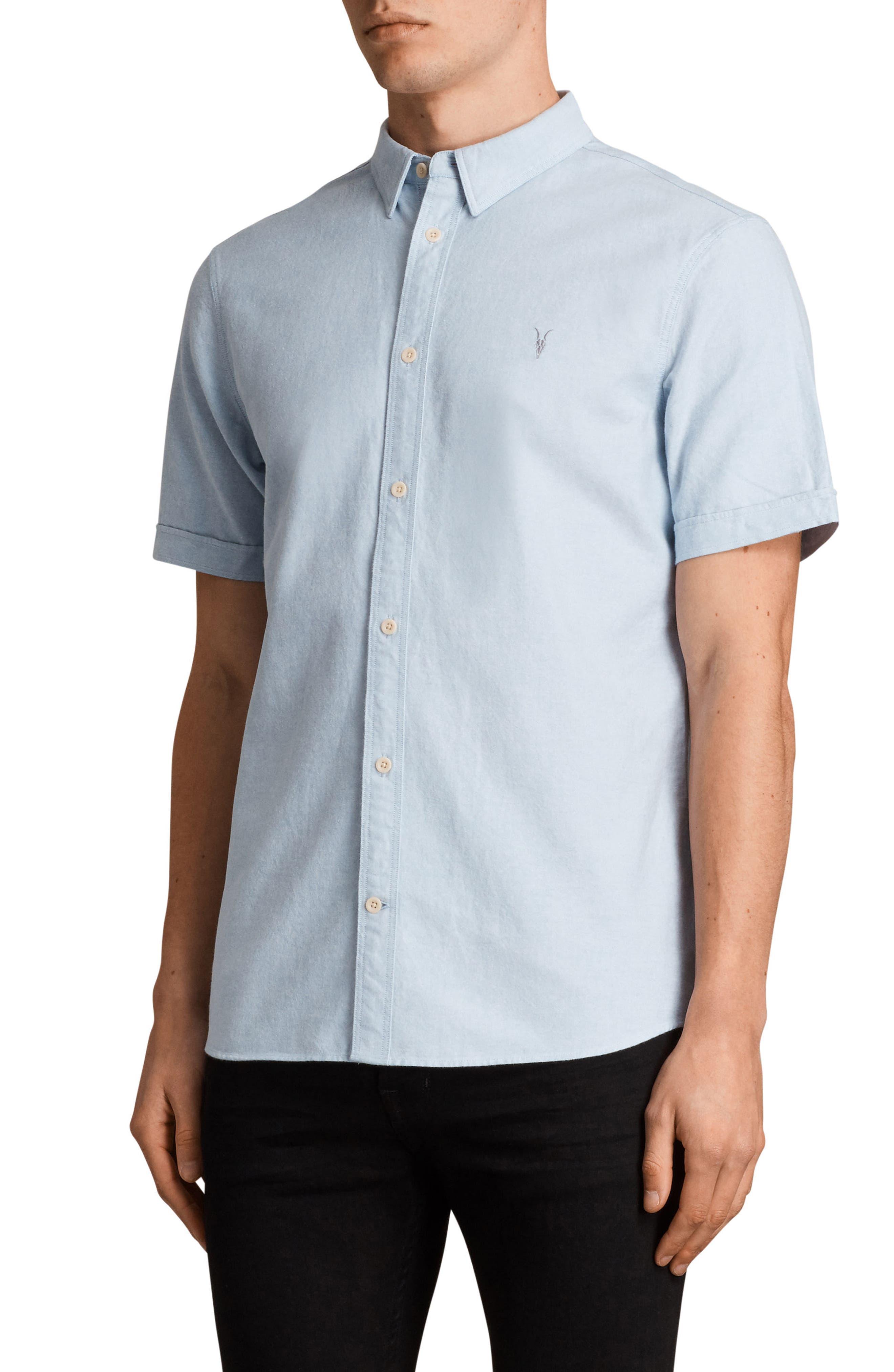 Huntington Regular Fit Short Sleeve Sport Shirt,                             Alternate thumbnail 15, color,