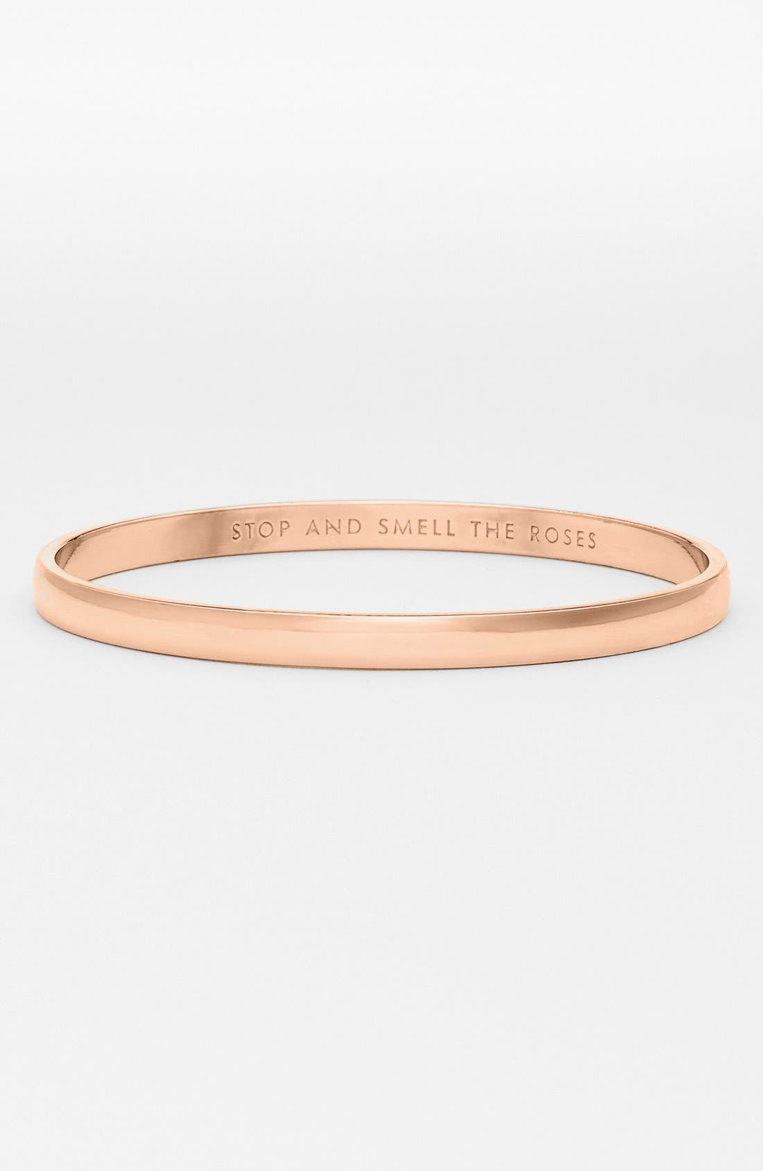 'idiom - stop and smell the roses' bangle,                             Main thumbnail 1, color,                             ROSE GOLD
