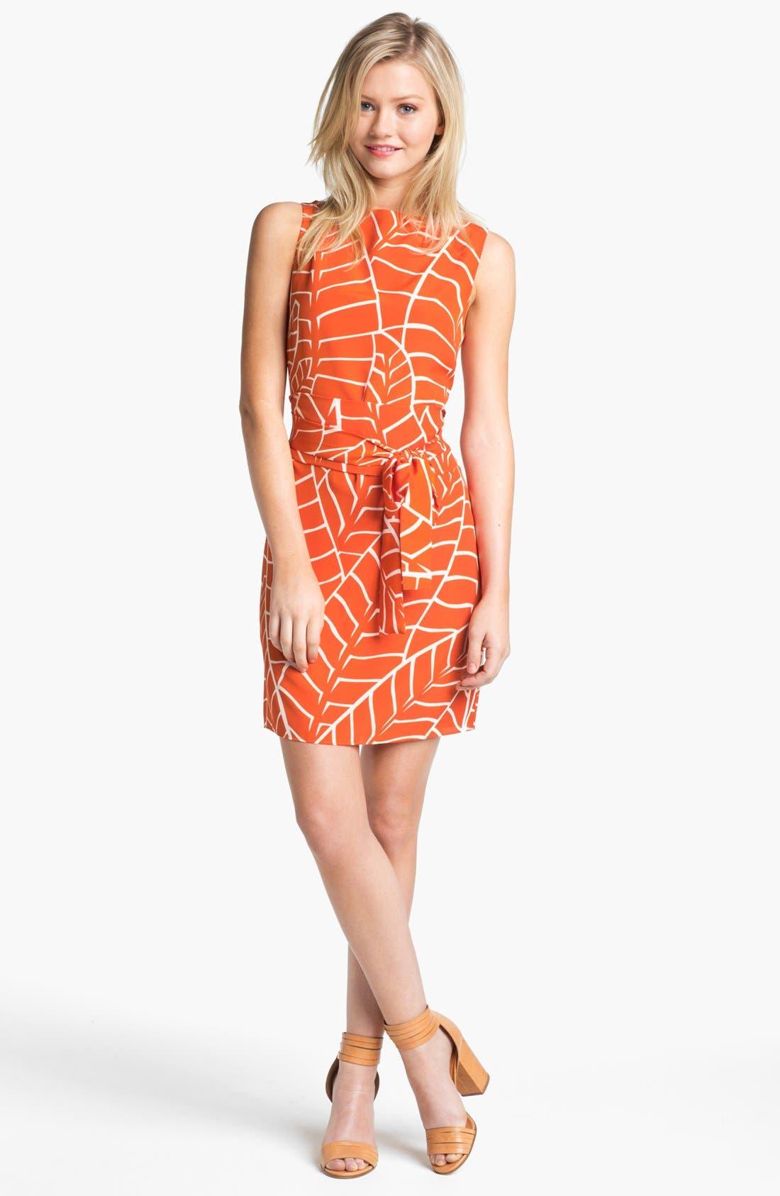 Sleeveless Print Dress,                             Main thumbnail 1, color,                             810