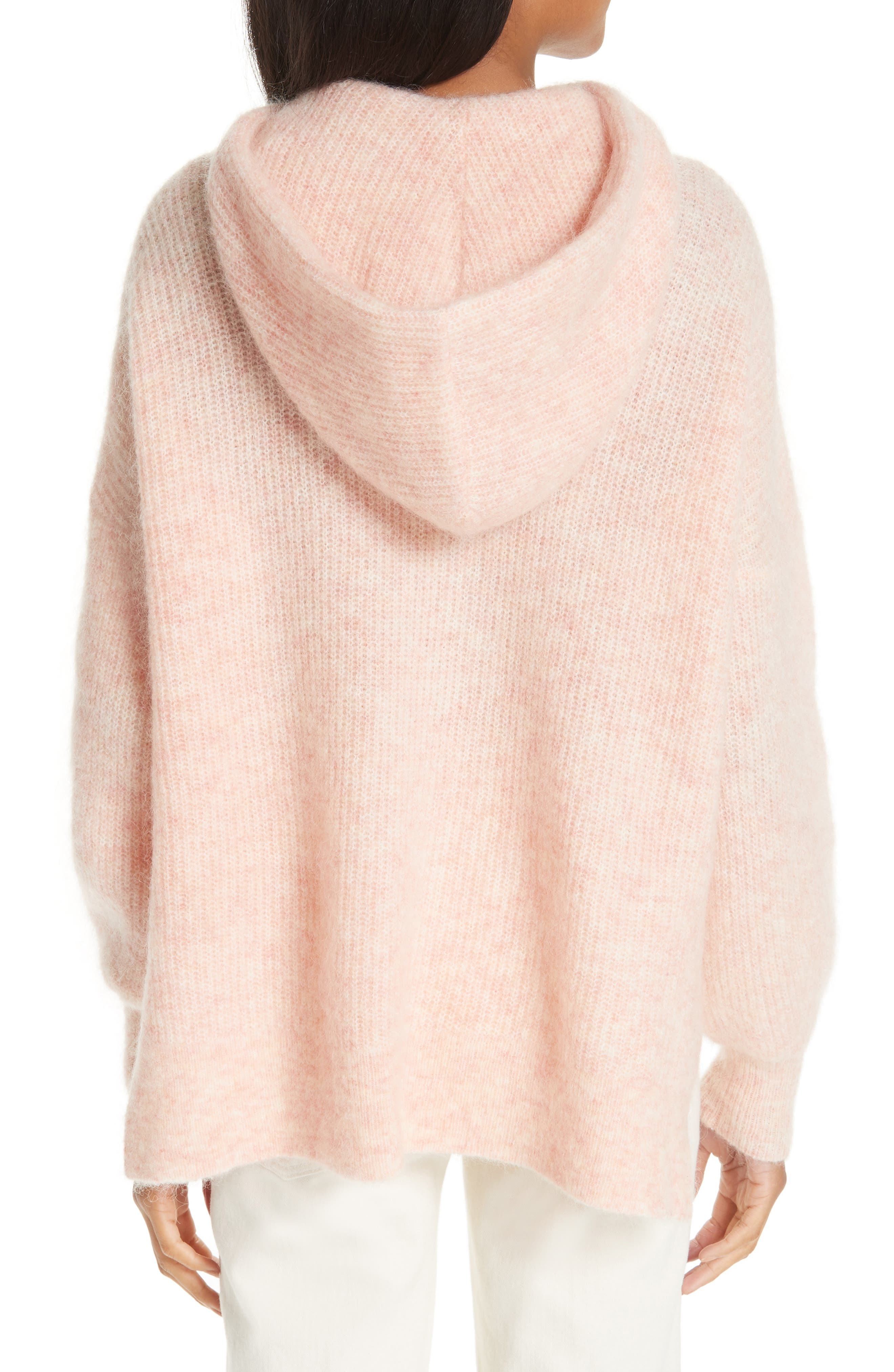 Soft Wool Blend Hoodie,                             Alternate thumbnail 2, color,                             SILVER PINK 499