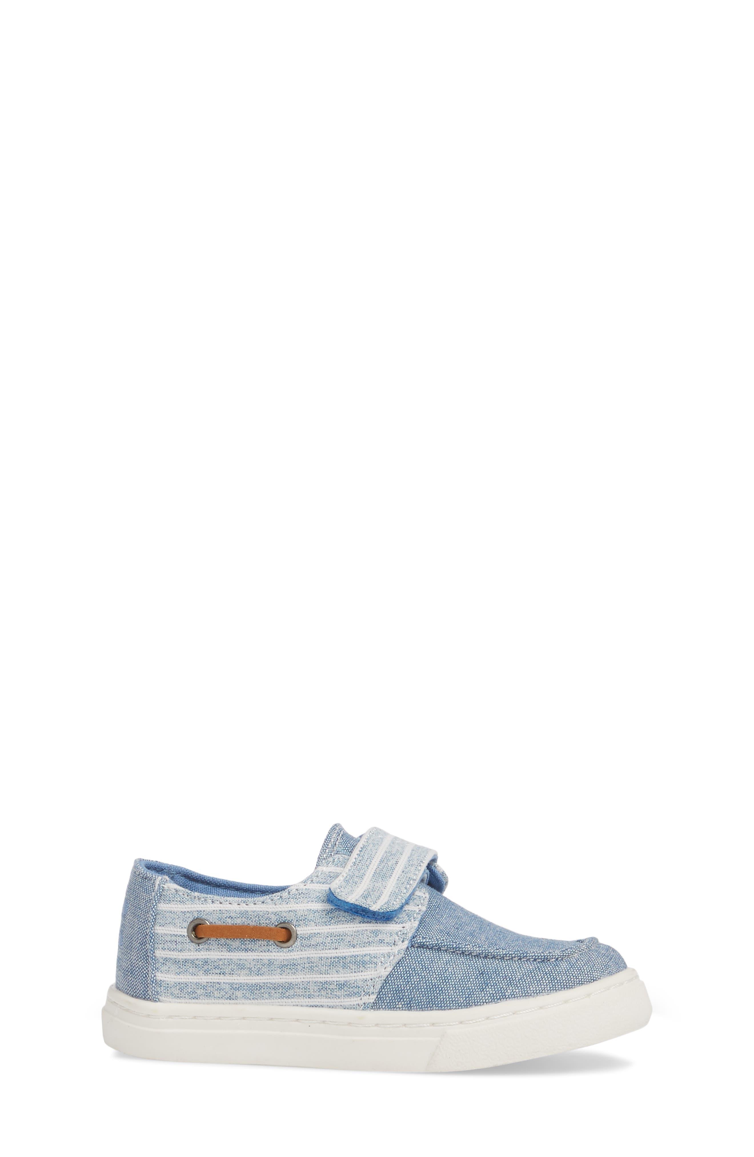 Culver Boat Shoe,                             Alternate thumbnail 3, color,                             BLUE CHAMBRAY/ STRIPE