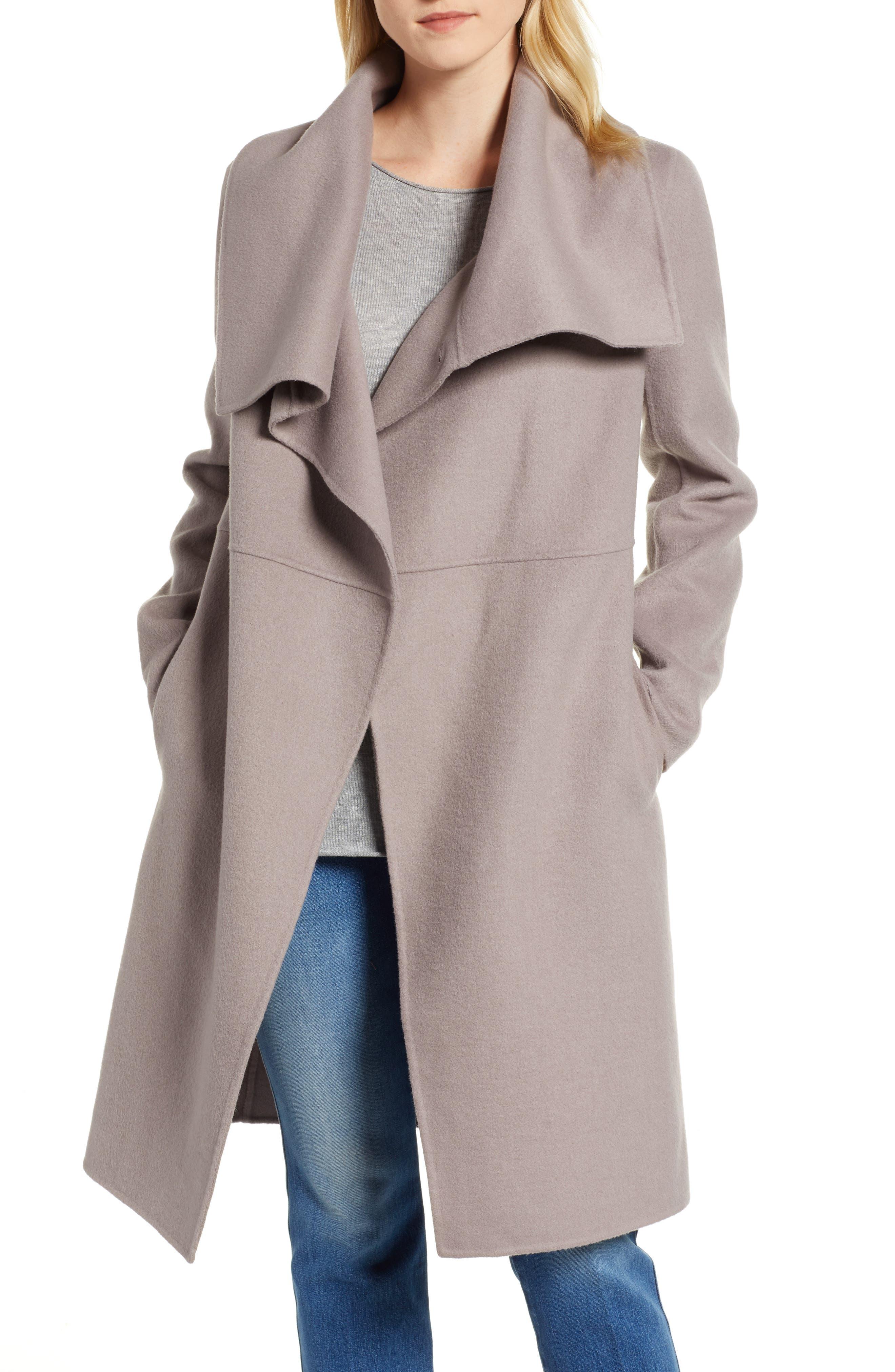 Double Faced Shawl Coat,                             Main thumbnail 1, color,                             420