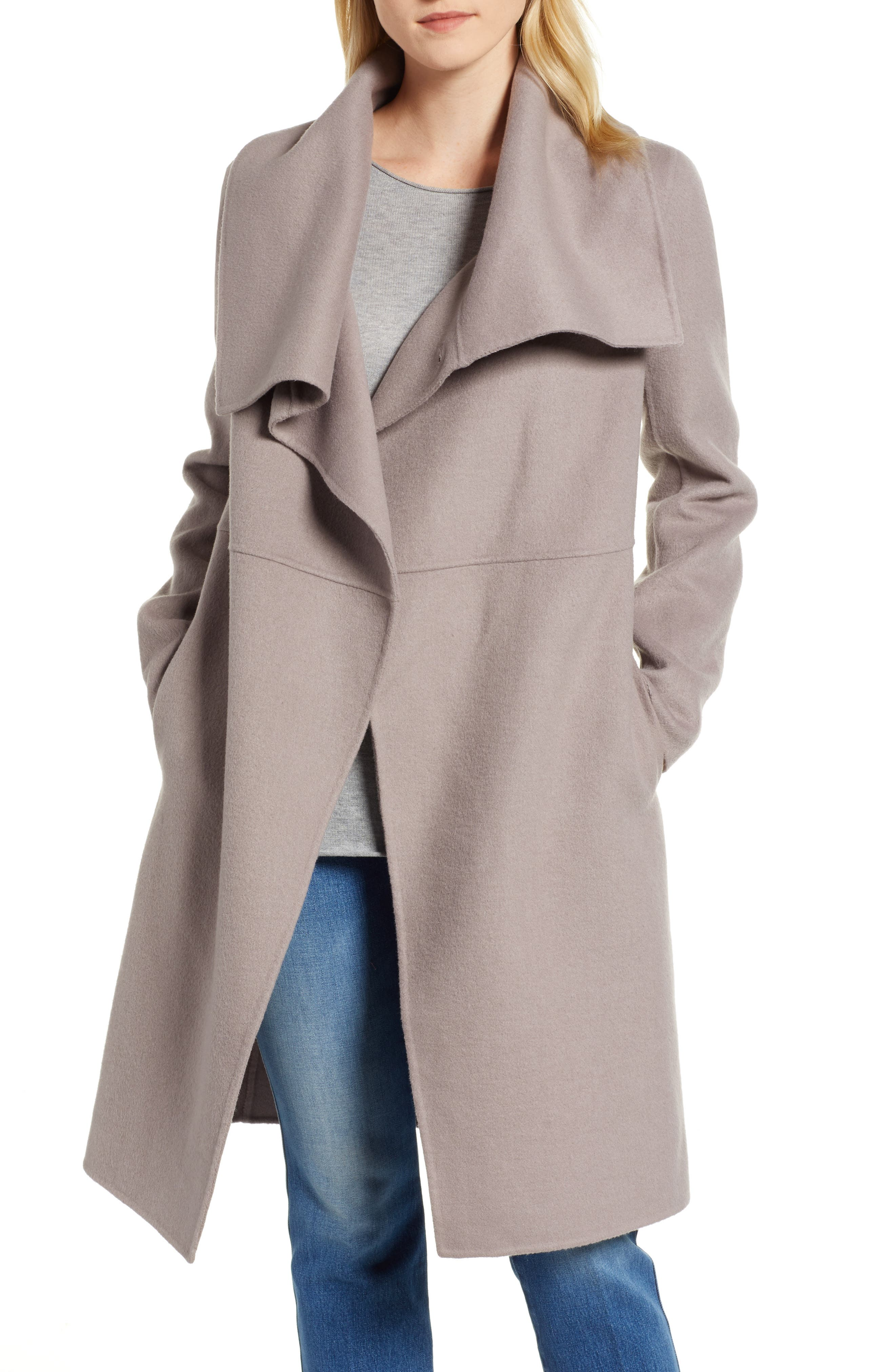 Double Faced Shawl Coat, Main, color, 420