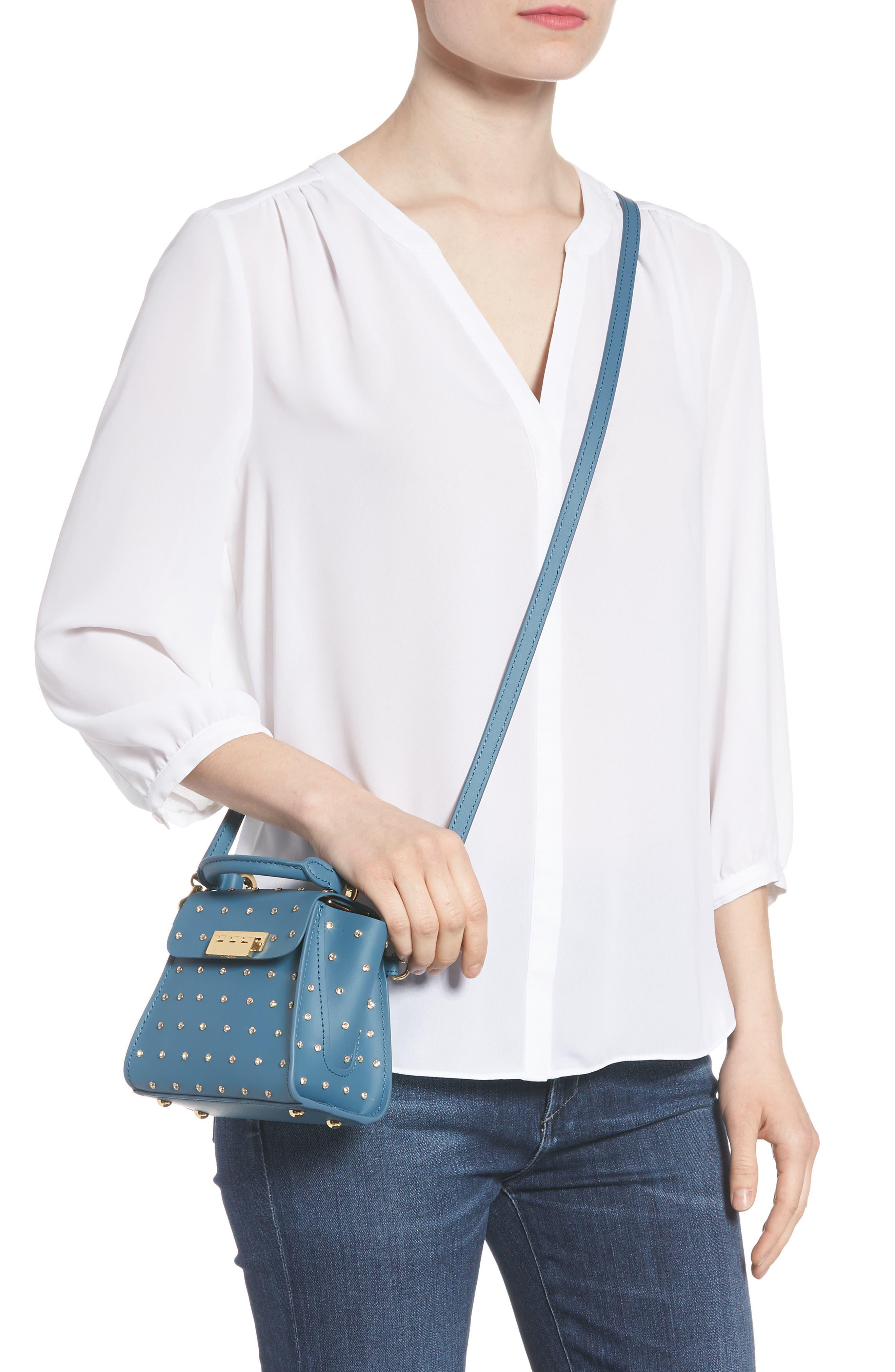 Mini Eartha Crystal Top Handle Bag,                             Alternate thumbnail 2, color,                             420