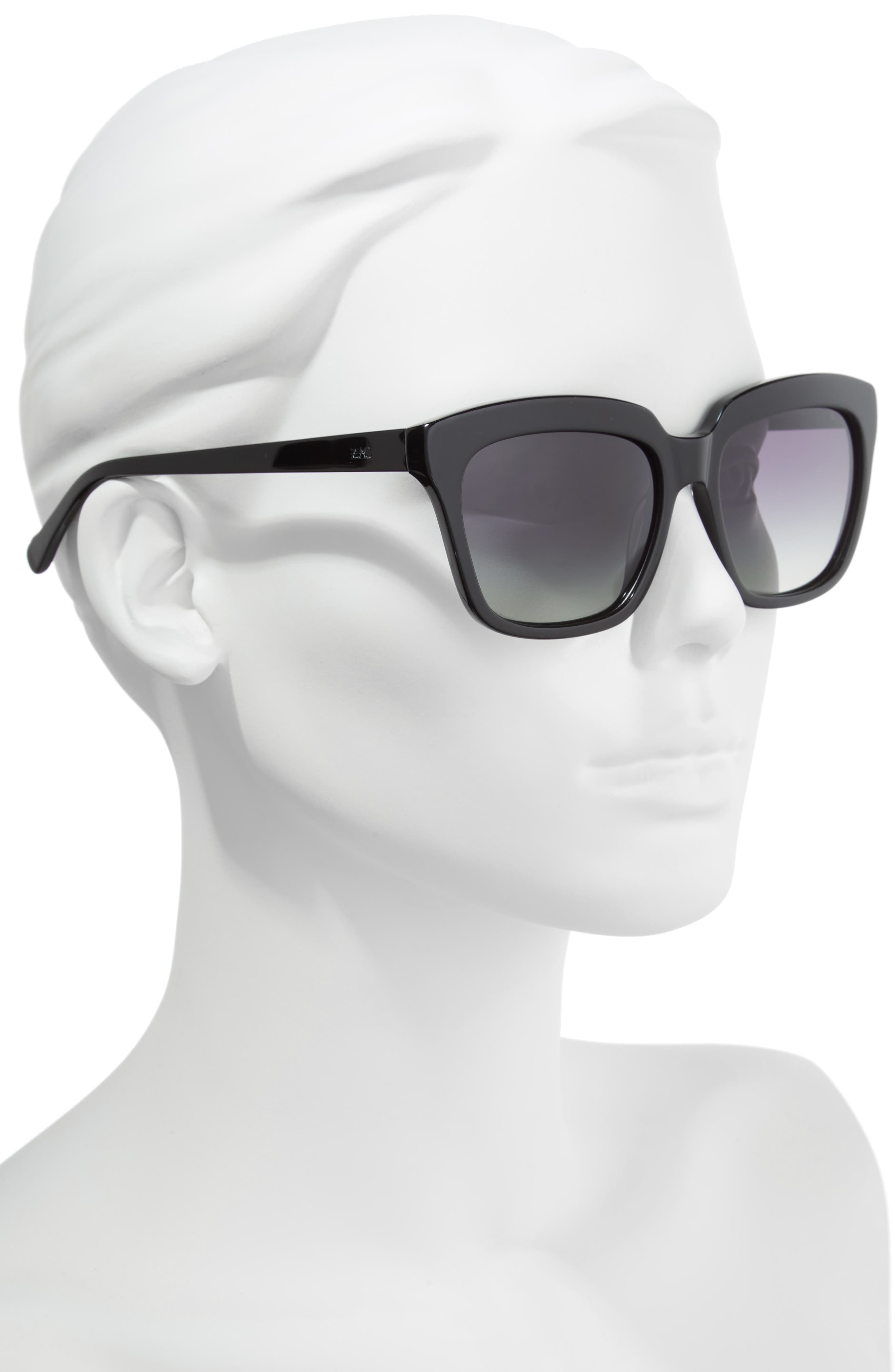 Adina 56mm Polarized Sunglasses,                             Alternate thumbnail 2, color,                             001