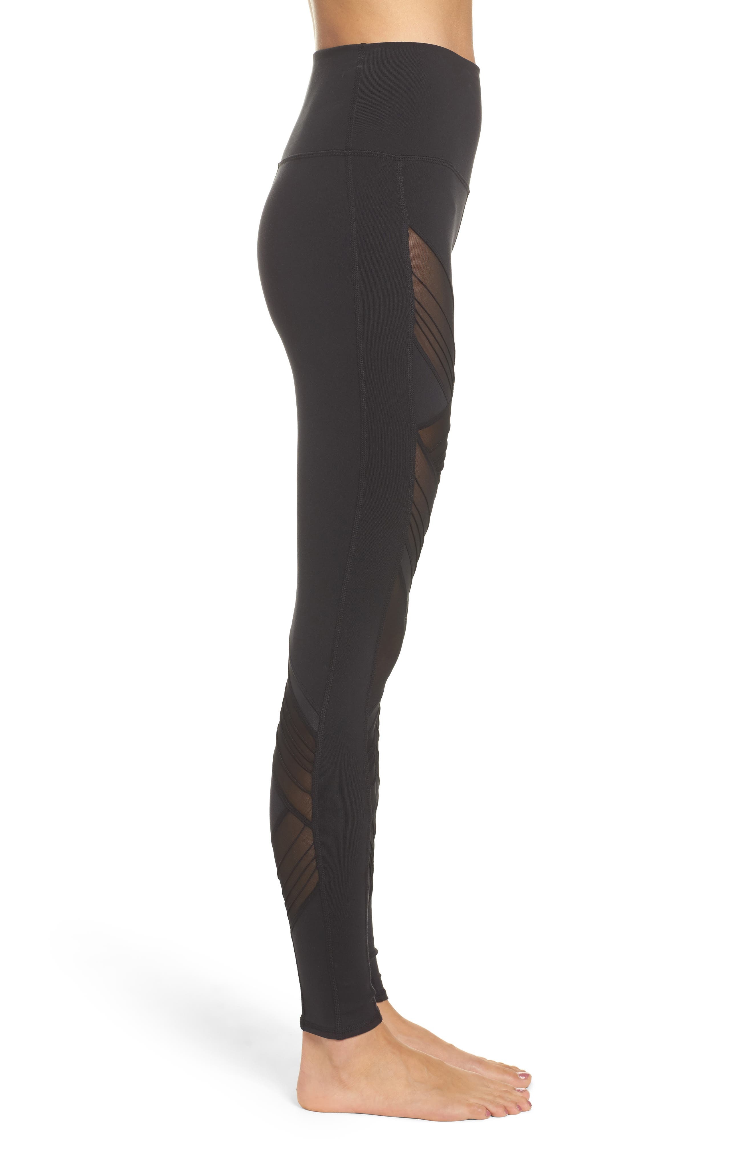 Ultimate High Waist Leggings,                             Alternate thumbnail 3, color,                             BLACK
