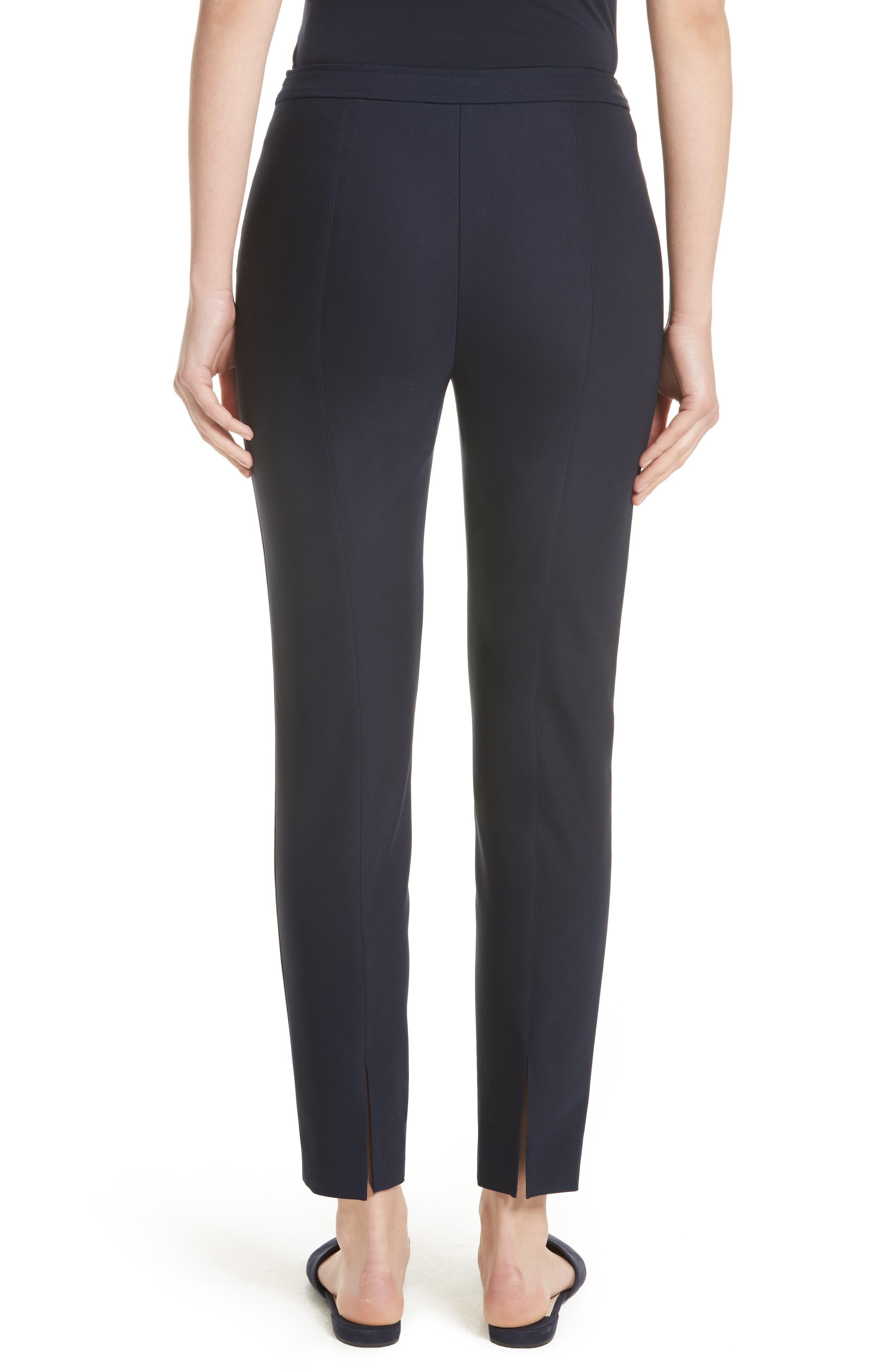 Alexa Scuba Slim Crop Pants,                             Alternate thumbnail 2, color,                             NAVY