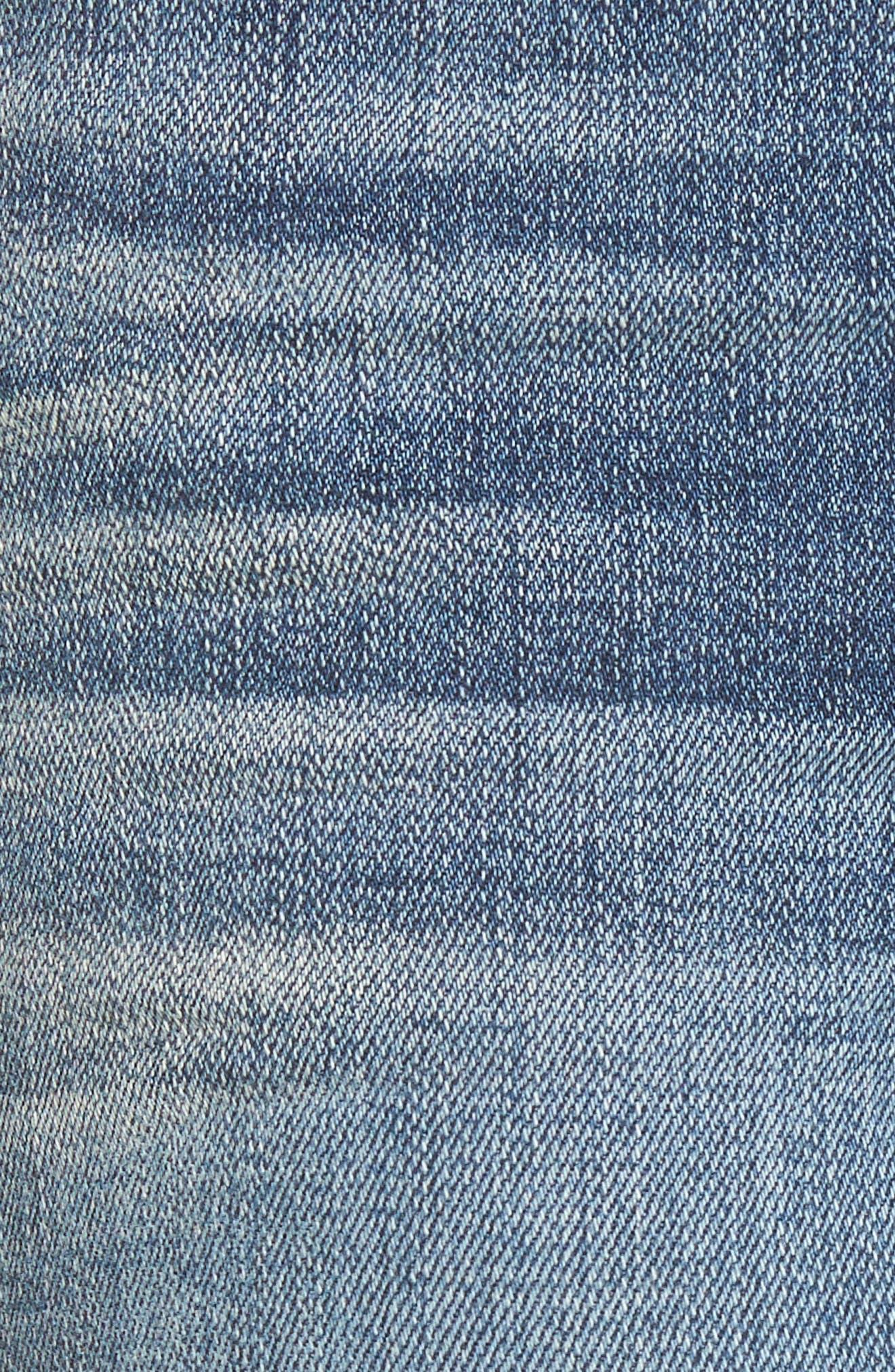 Exaggerated Hem Skinny Jeans,                             Alternate thumbnail 5, color,                             400