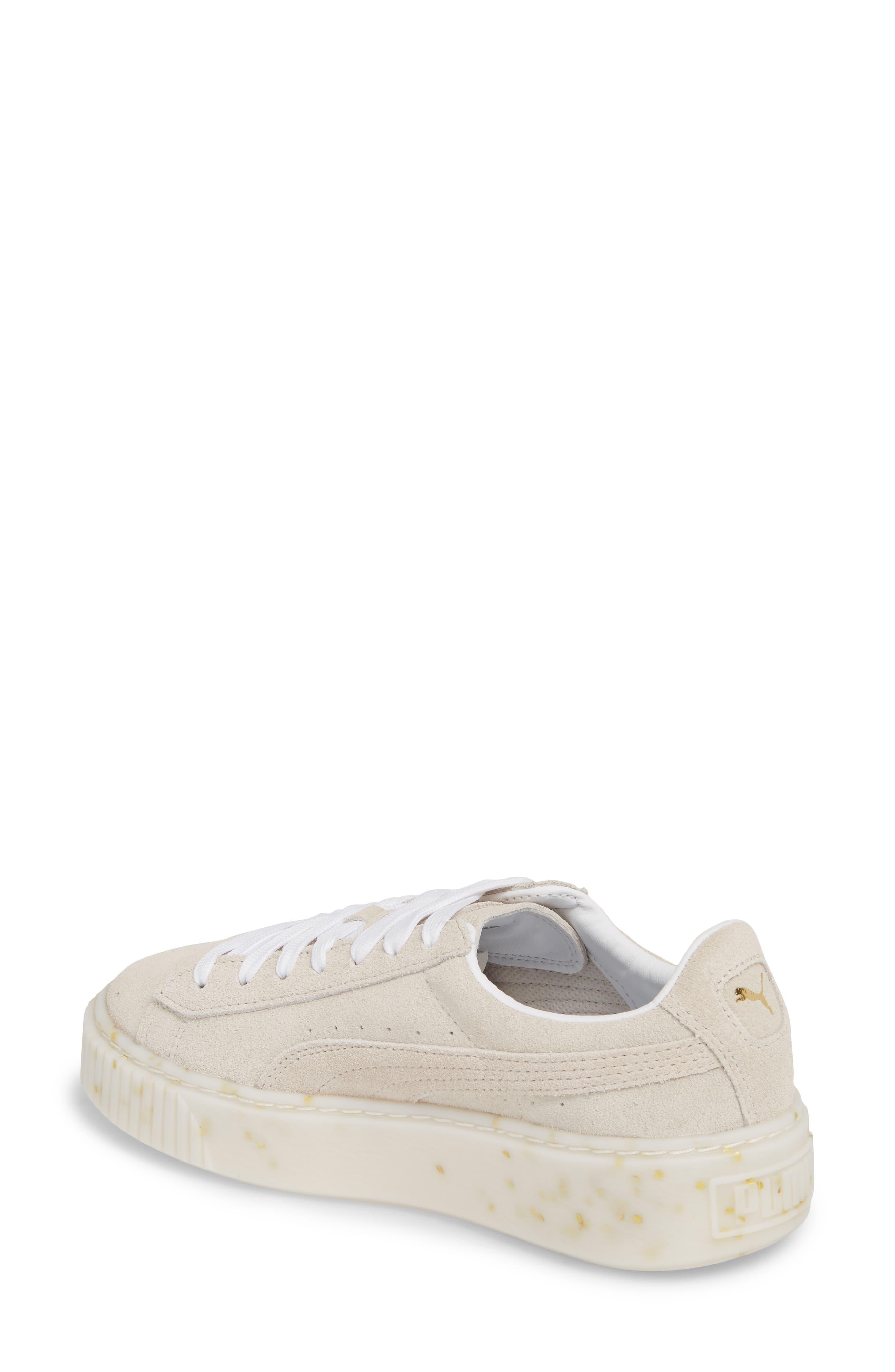 Suede Platform Sneaker,                             Alternate thumbnail 8, color,