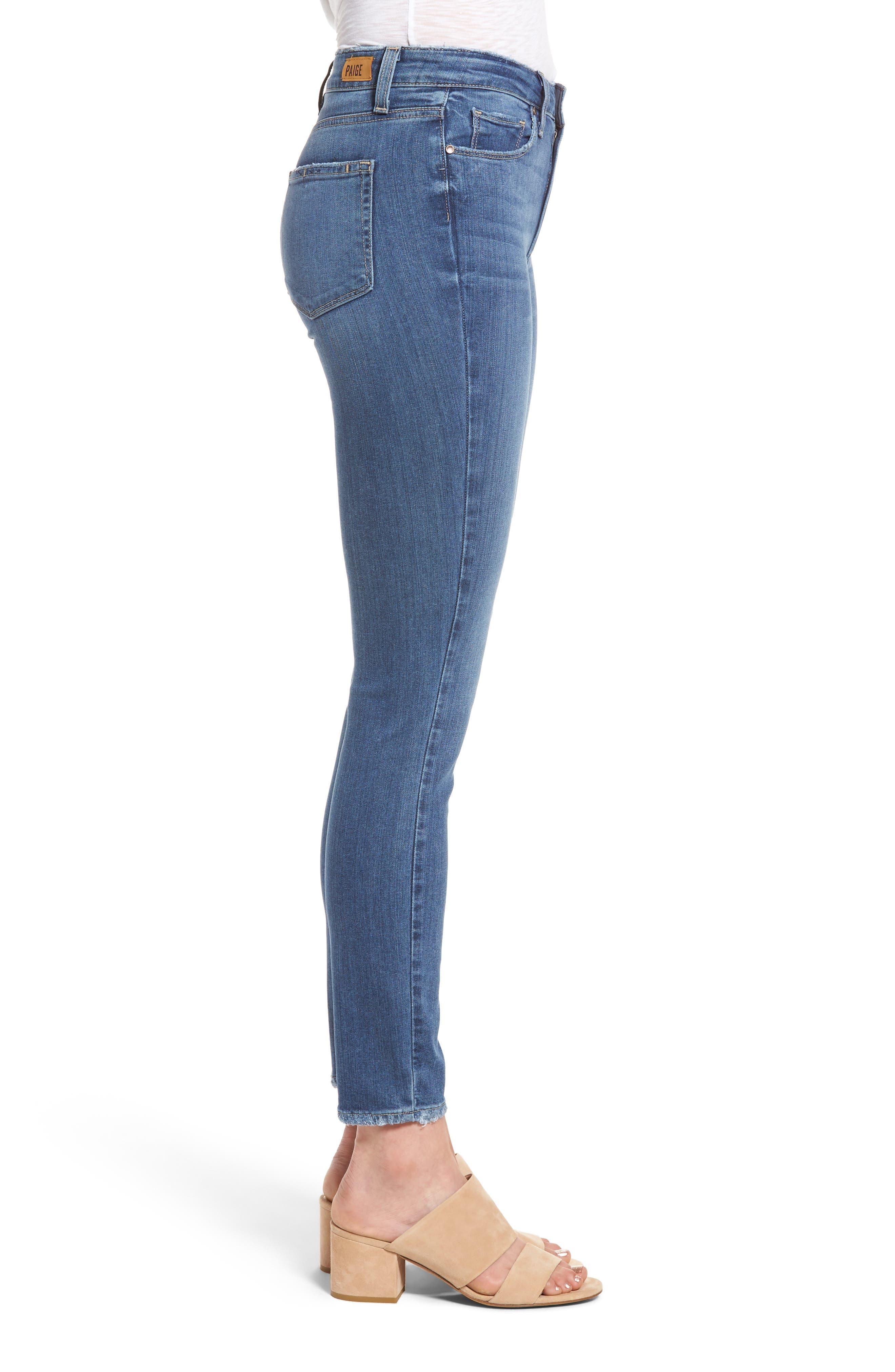 Hoxton High Waist Ankle Skinny Jeans,                             Alternate thumbnail 3, color,                             400
