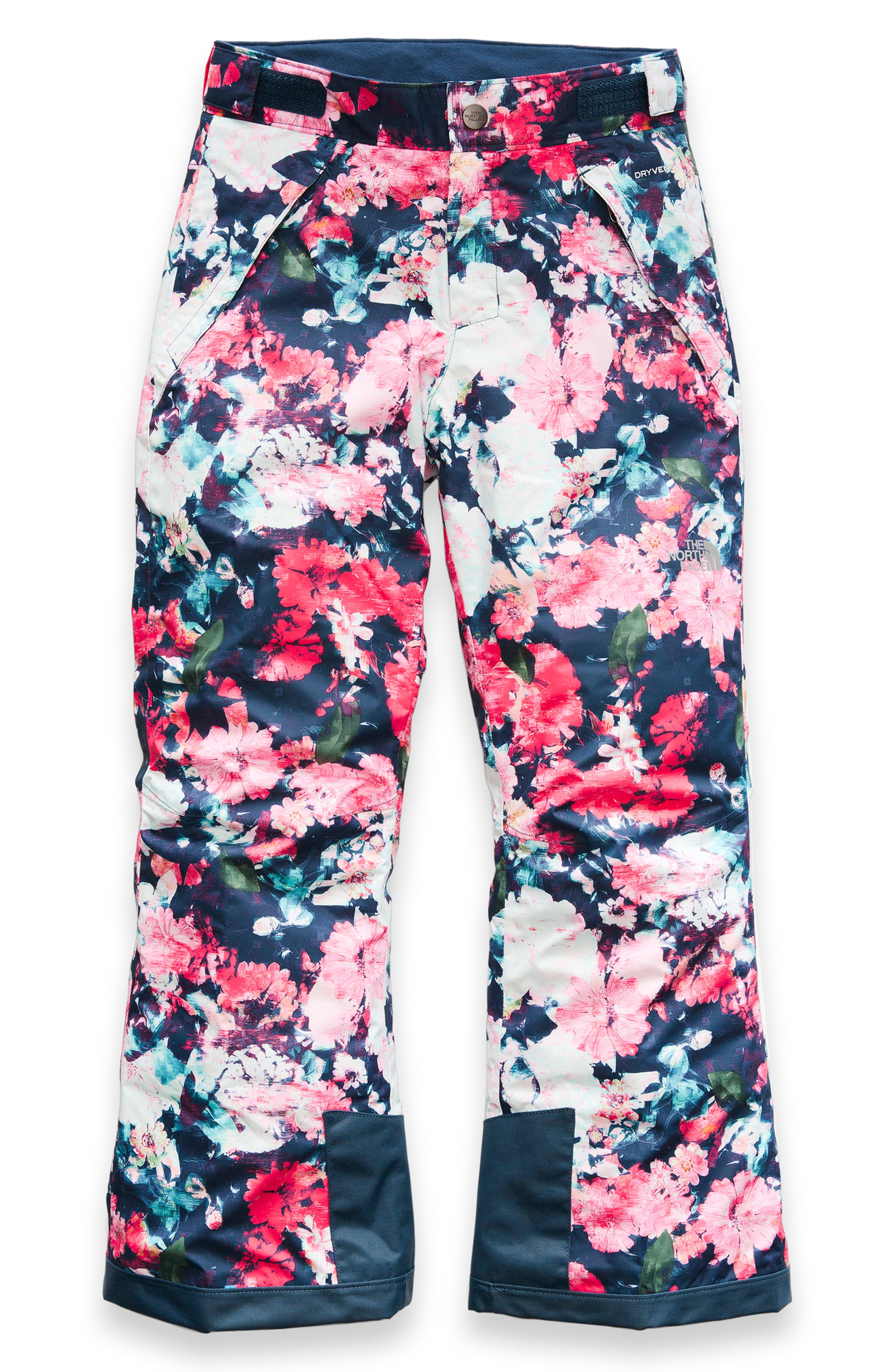 Freedom Waterproof Insulated Snow Pants,                             Main thumbnail 1, color,                             ATOMIC PINK FLORAL
