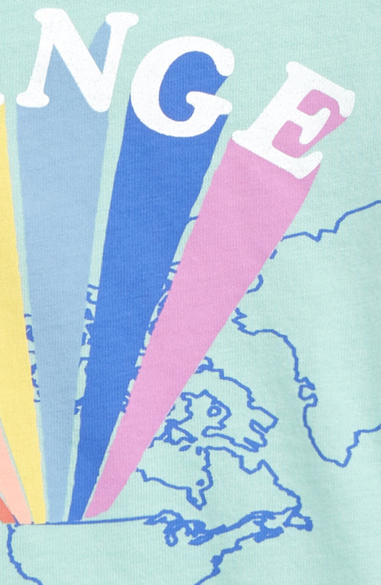 PEEK ESSENTIALS,                             Peek Change the World Graphic T-Shirt,                             Alternate thumbnail 3, color,                             BLUE