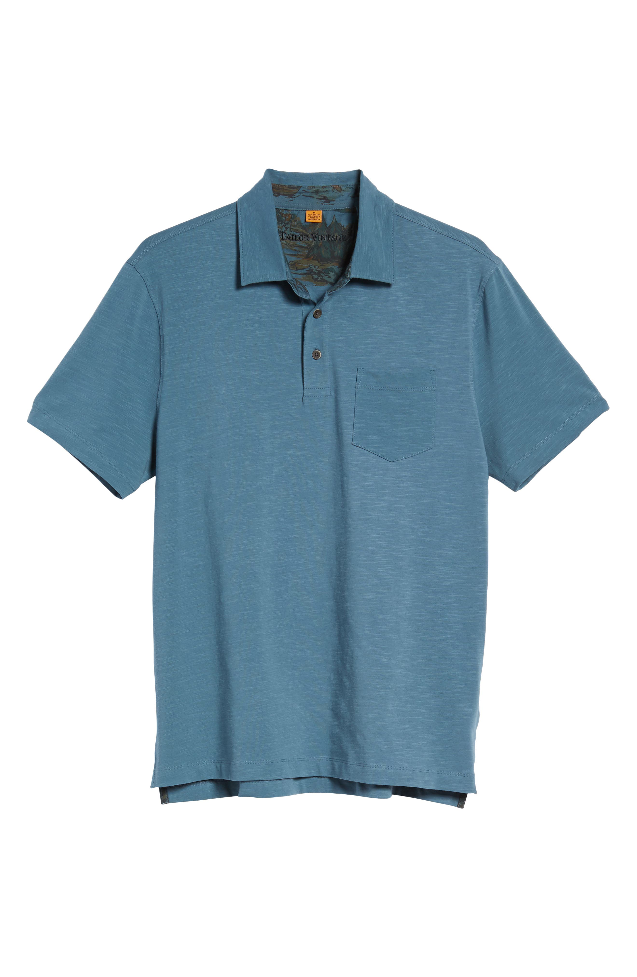 Stretch Slub Jersey Polo,                             Alternate thumbnail 17, color,