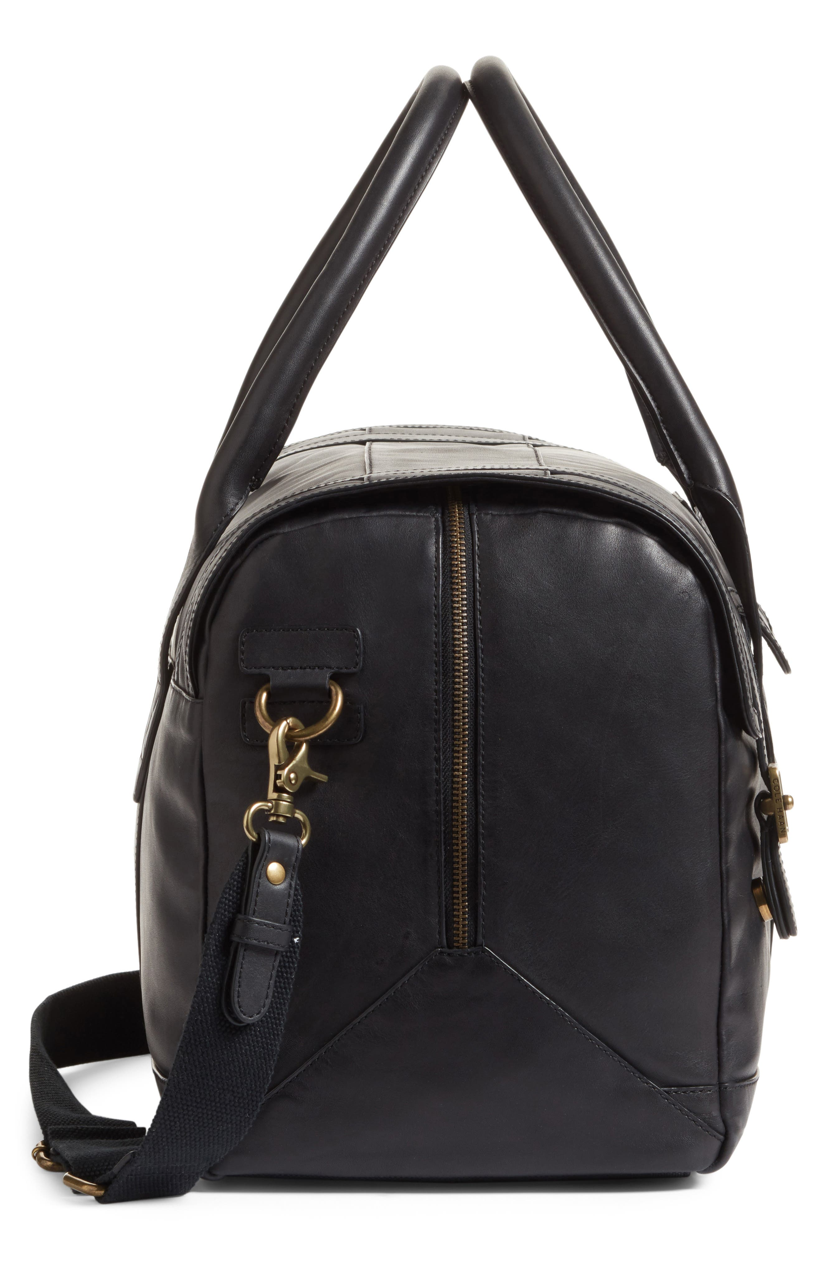 Leather Duffel Bag,                             Alternate thumbnail 9, color,