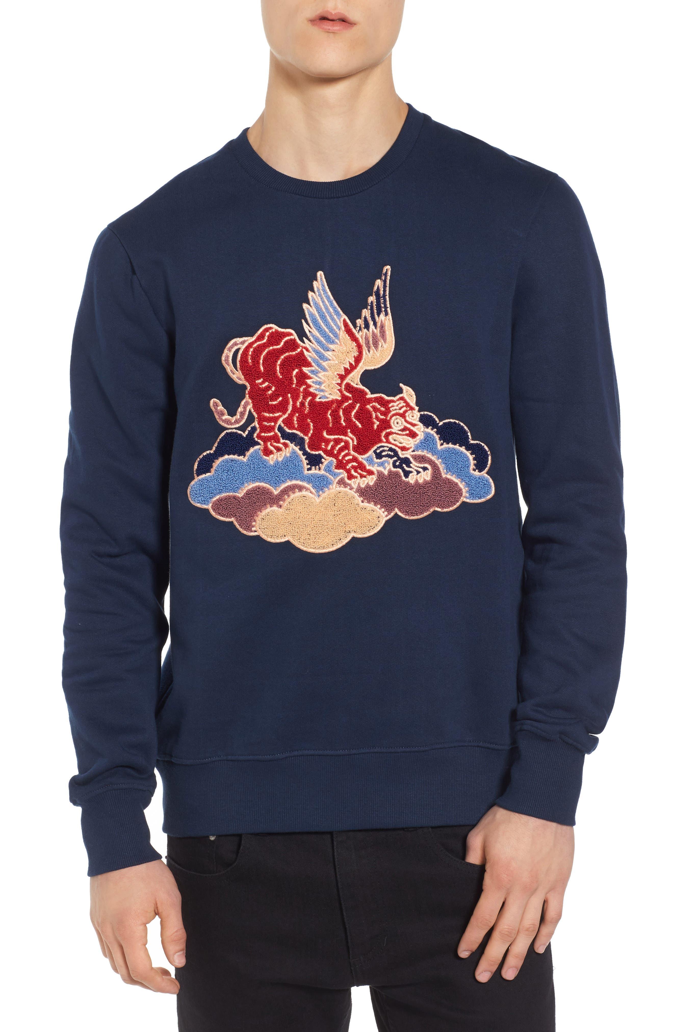 Nokat Appliqué Sweatshirt,                             Main thumbnail 1, color,                             018