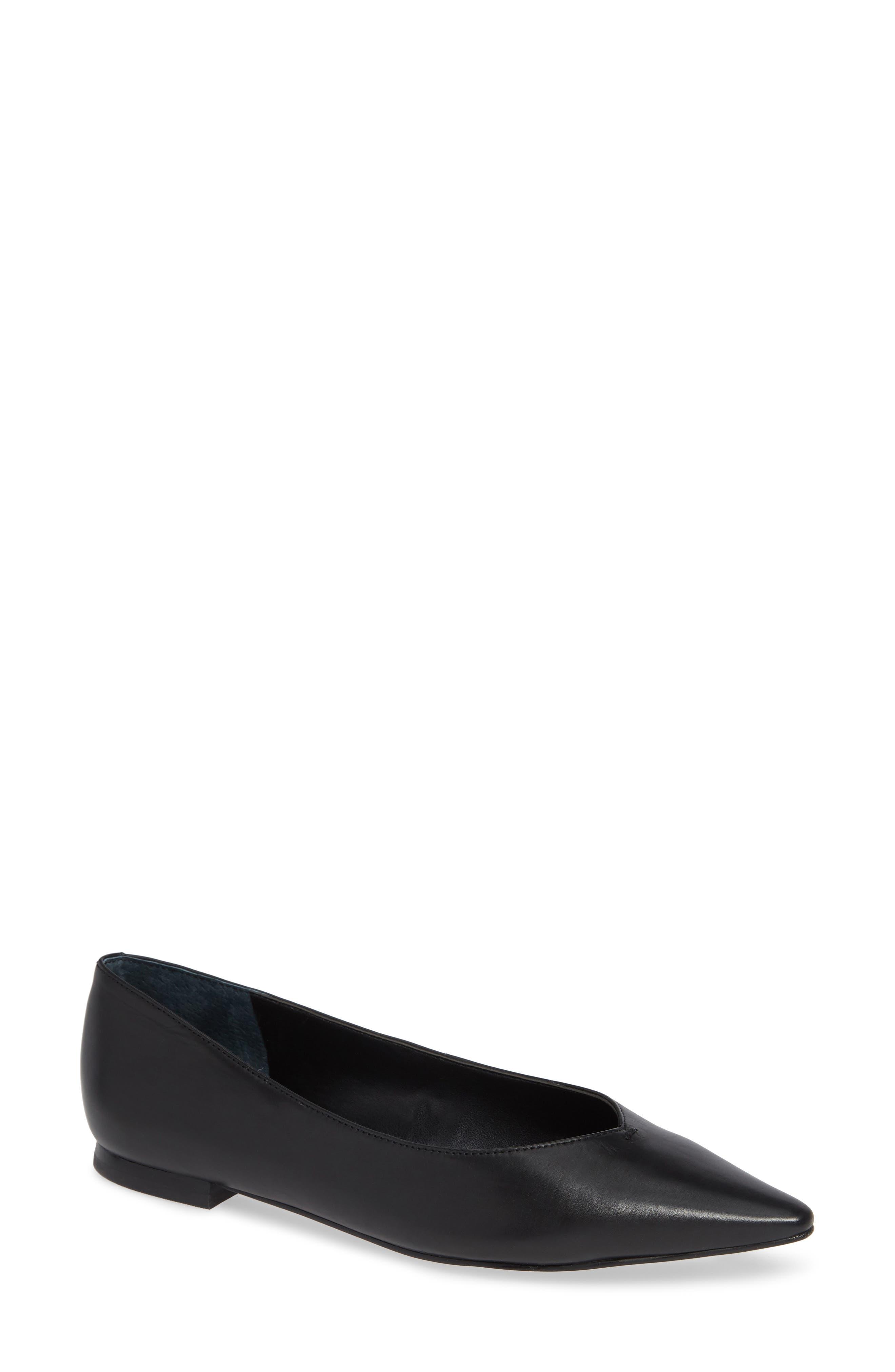 Saco Pointy Toe Flat,                         Main,                         color, 001