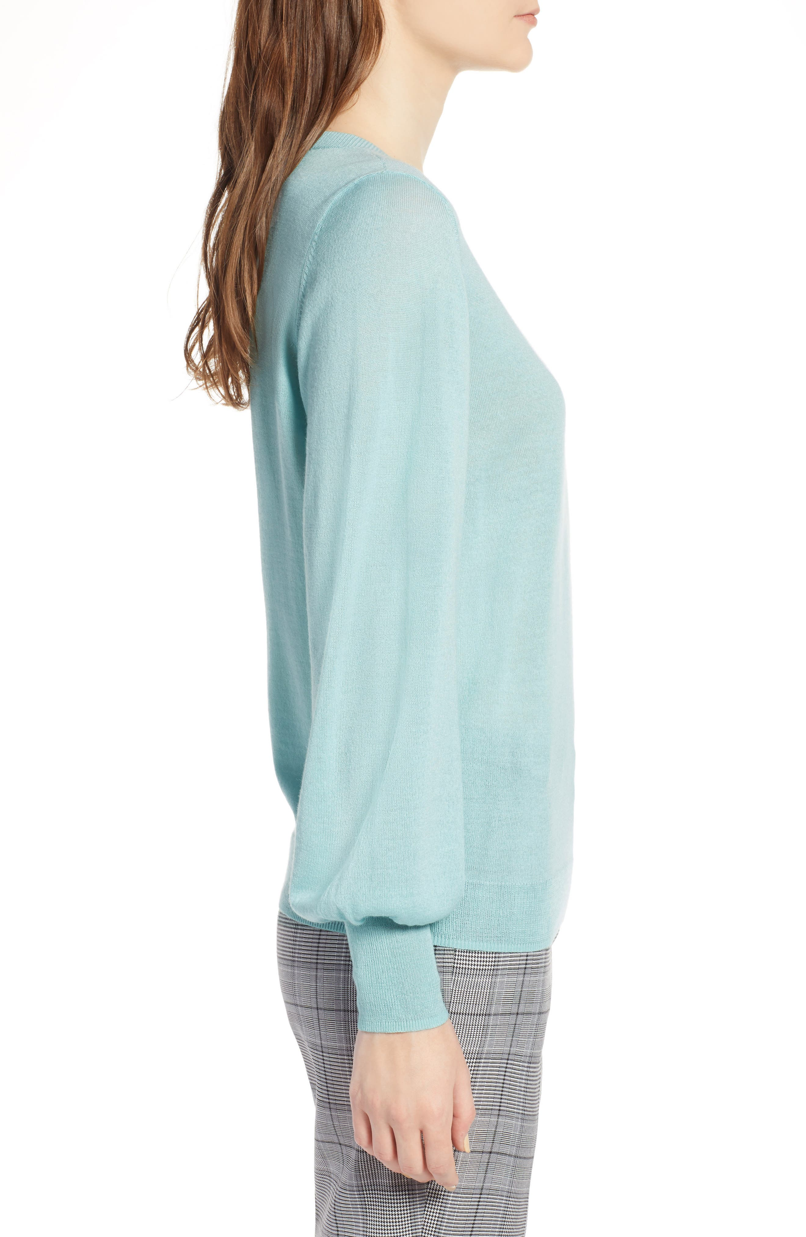 Puff Sleeve Sweater,                             Alternate thumbnail 27, color,