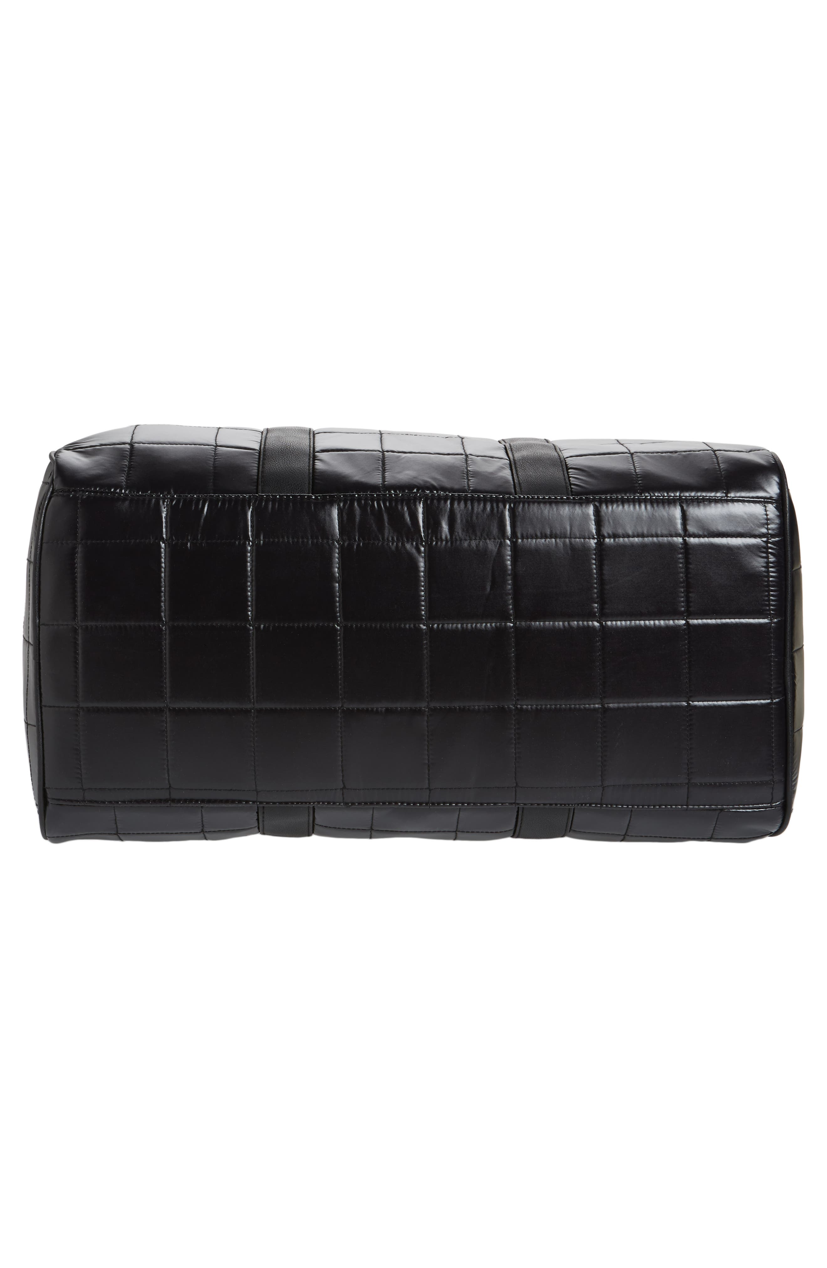 Puffer Duffel Bag,                             Alternate thumbnail 6, color,                             001