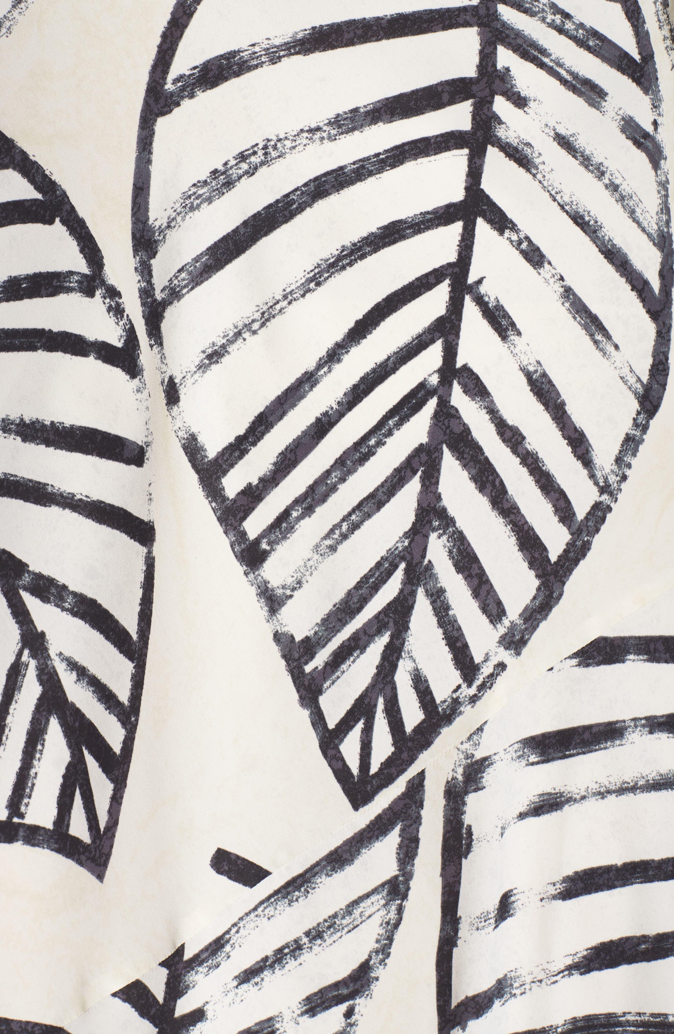 Etched Leaves Tie Dress,                             Alternate thumbnail 6, color,                             257