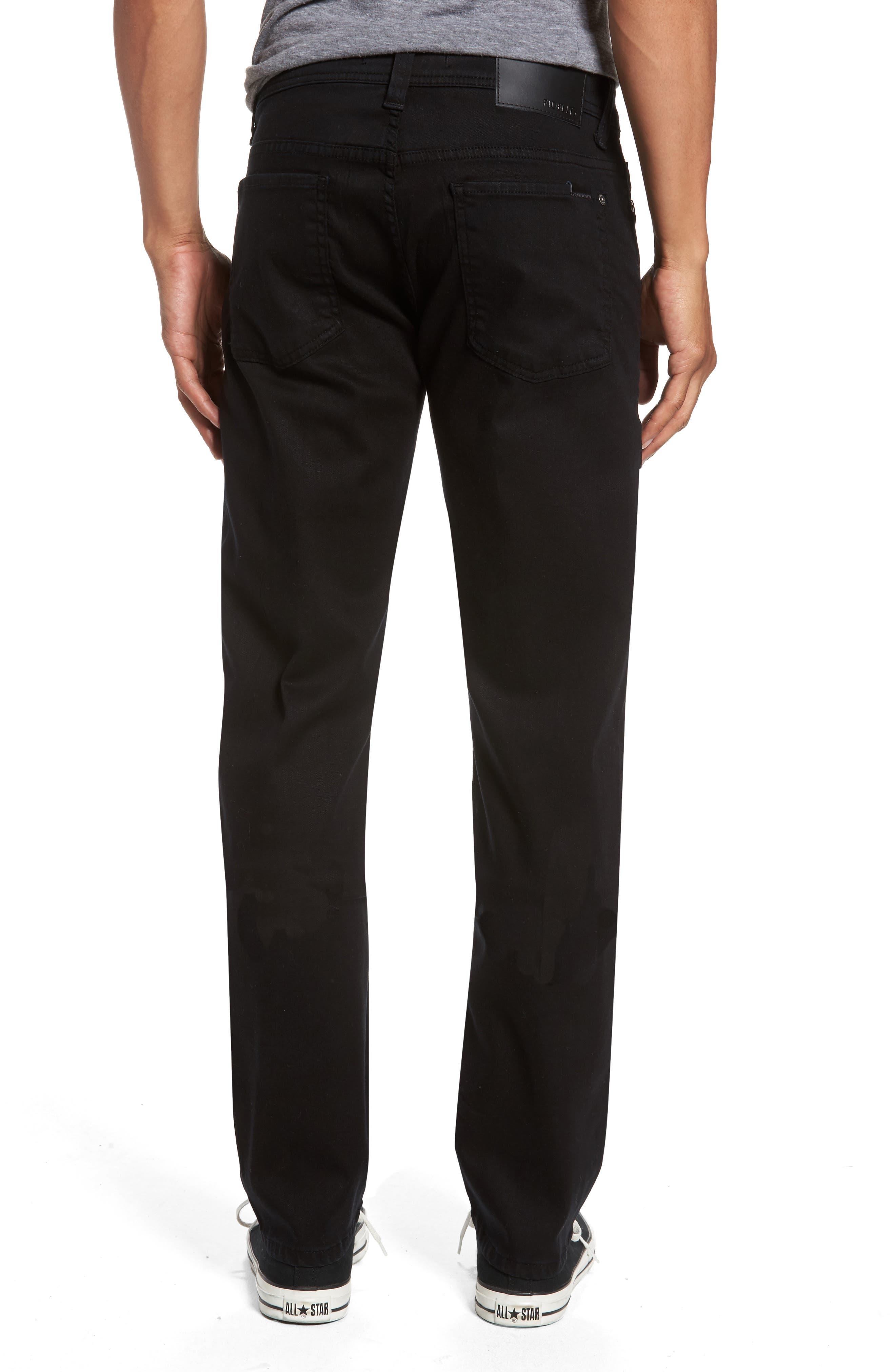 Jimmy Lumina Slim Straight Leg Twill Pants,                             Alternate thumbnail 2, color,                             BLACK
