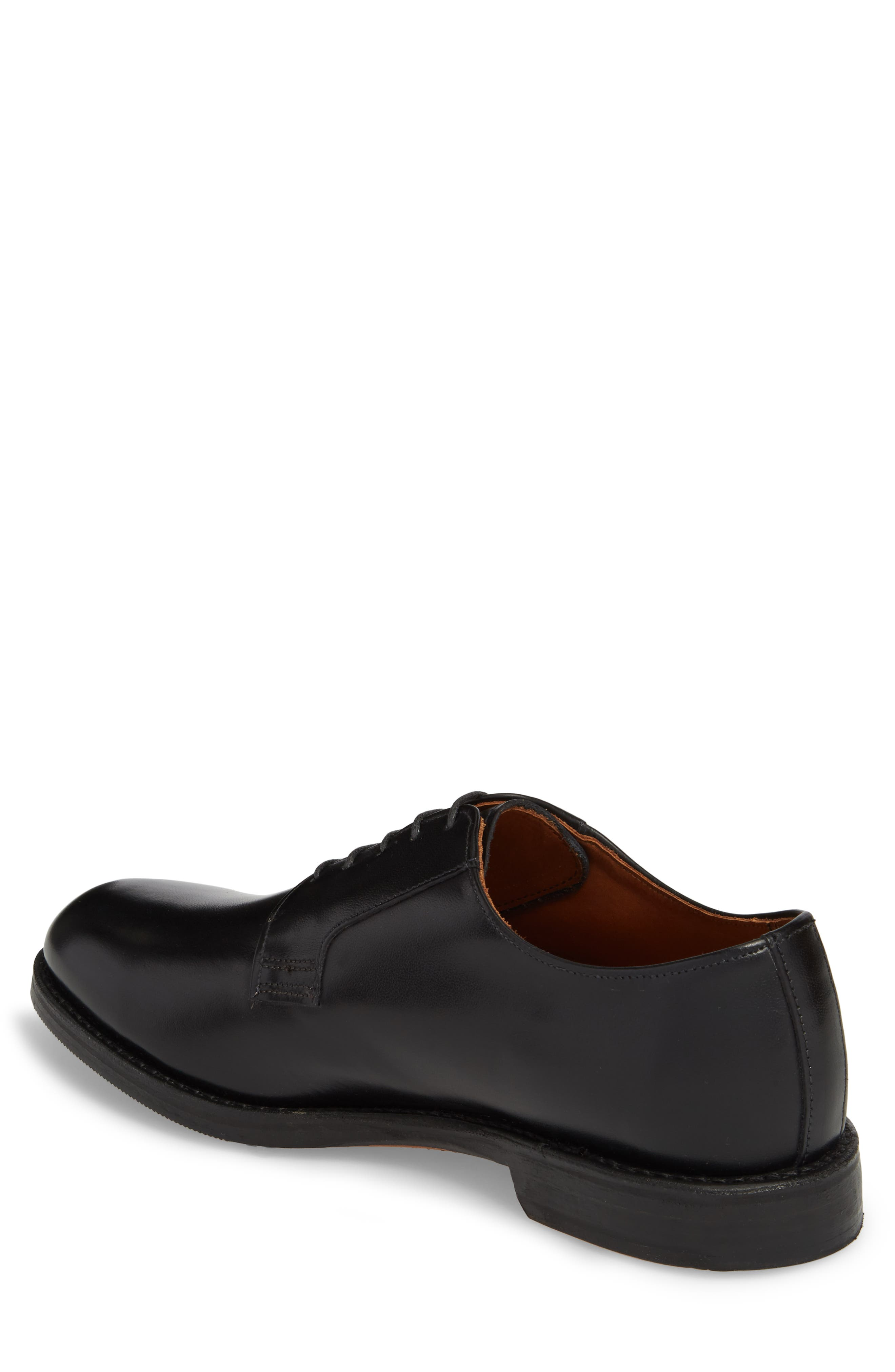 Whitney Plain Toe Derby,                             Alternate thumbnail 2, color,                             BLACK LEATHER