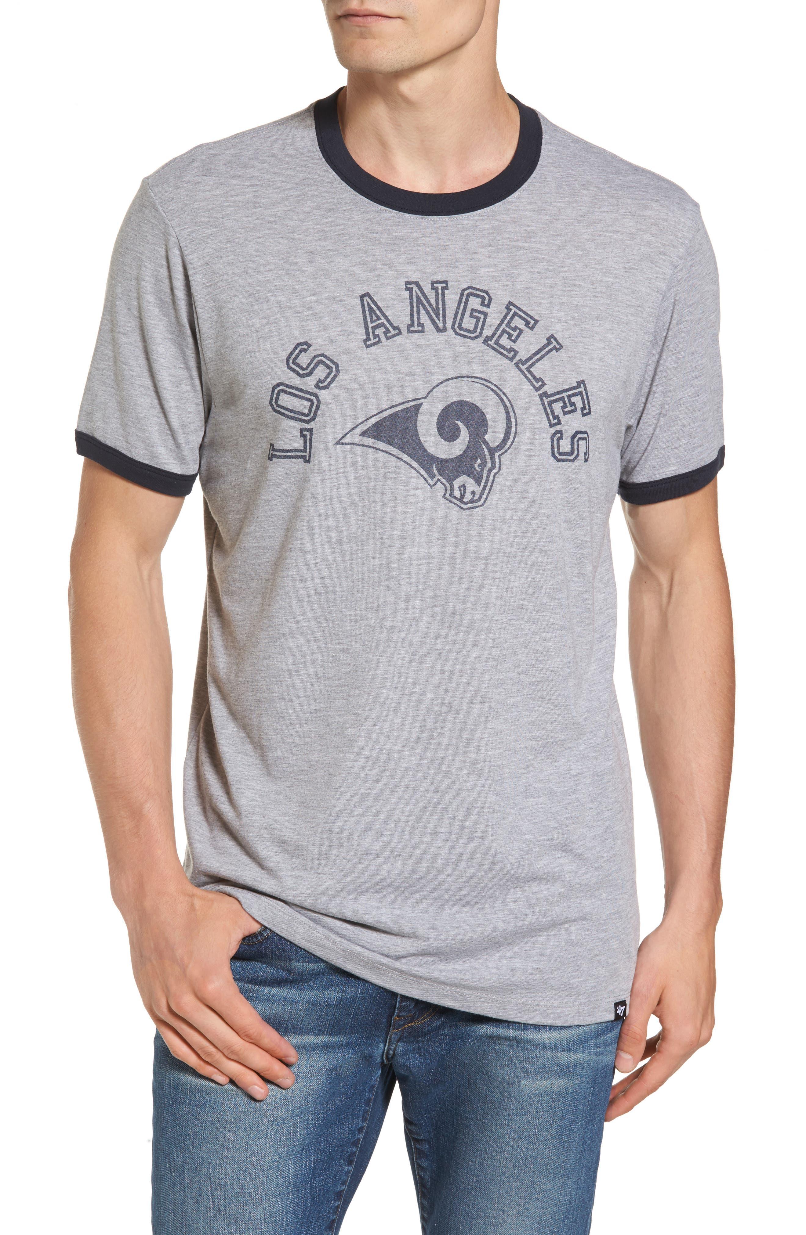 Los Angeles Rams Ringer T-Shirt,                             Main thumbnail 1, color,                             020