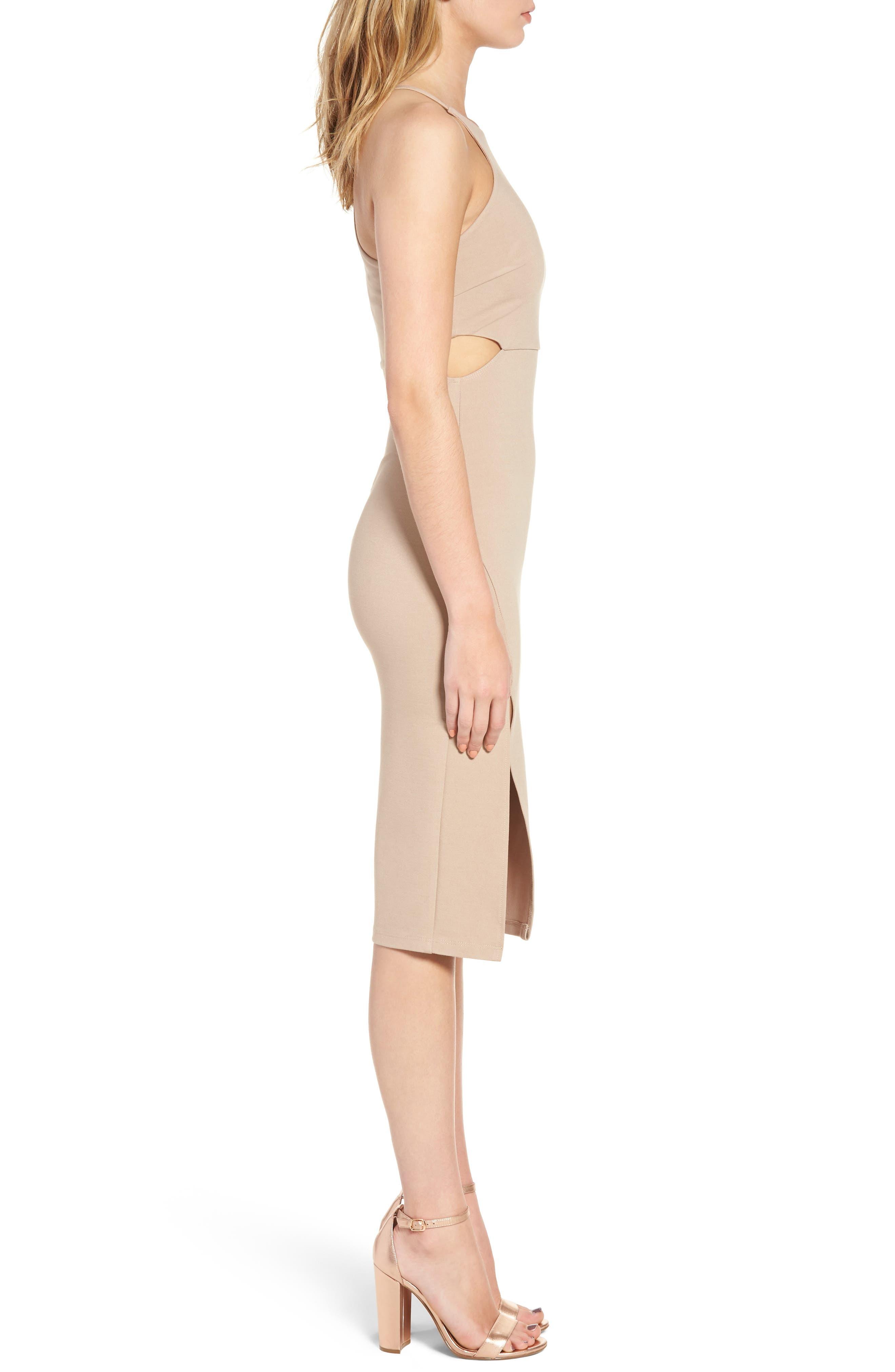 Side Cutout Body Con Dress,                             Alternate thumbnail 10, color,
