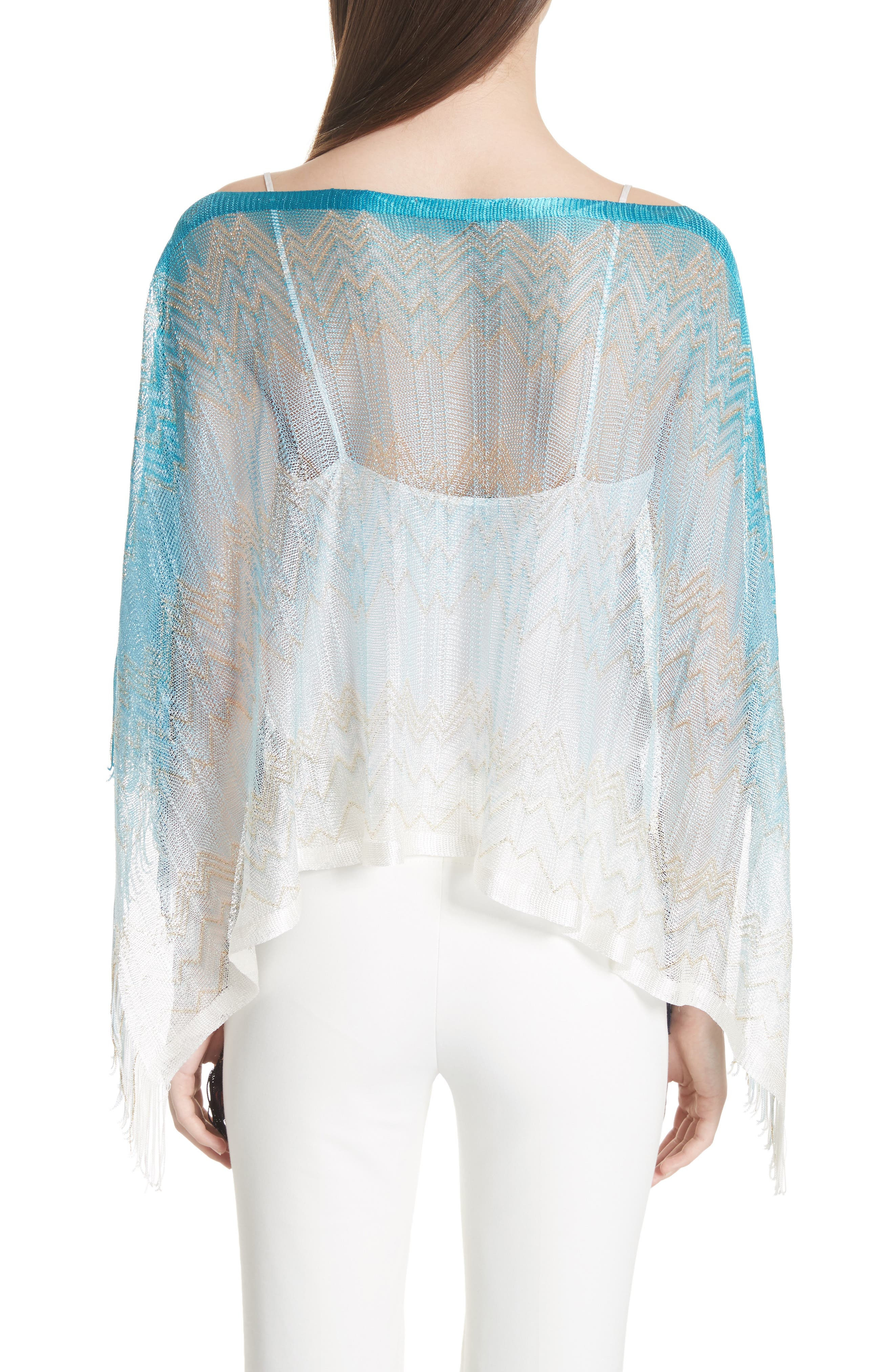 Zigzag Cover-Up Tunic,                             Alternate thumbnail 2, color,                             BLUE