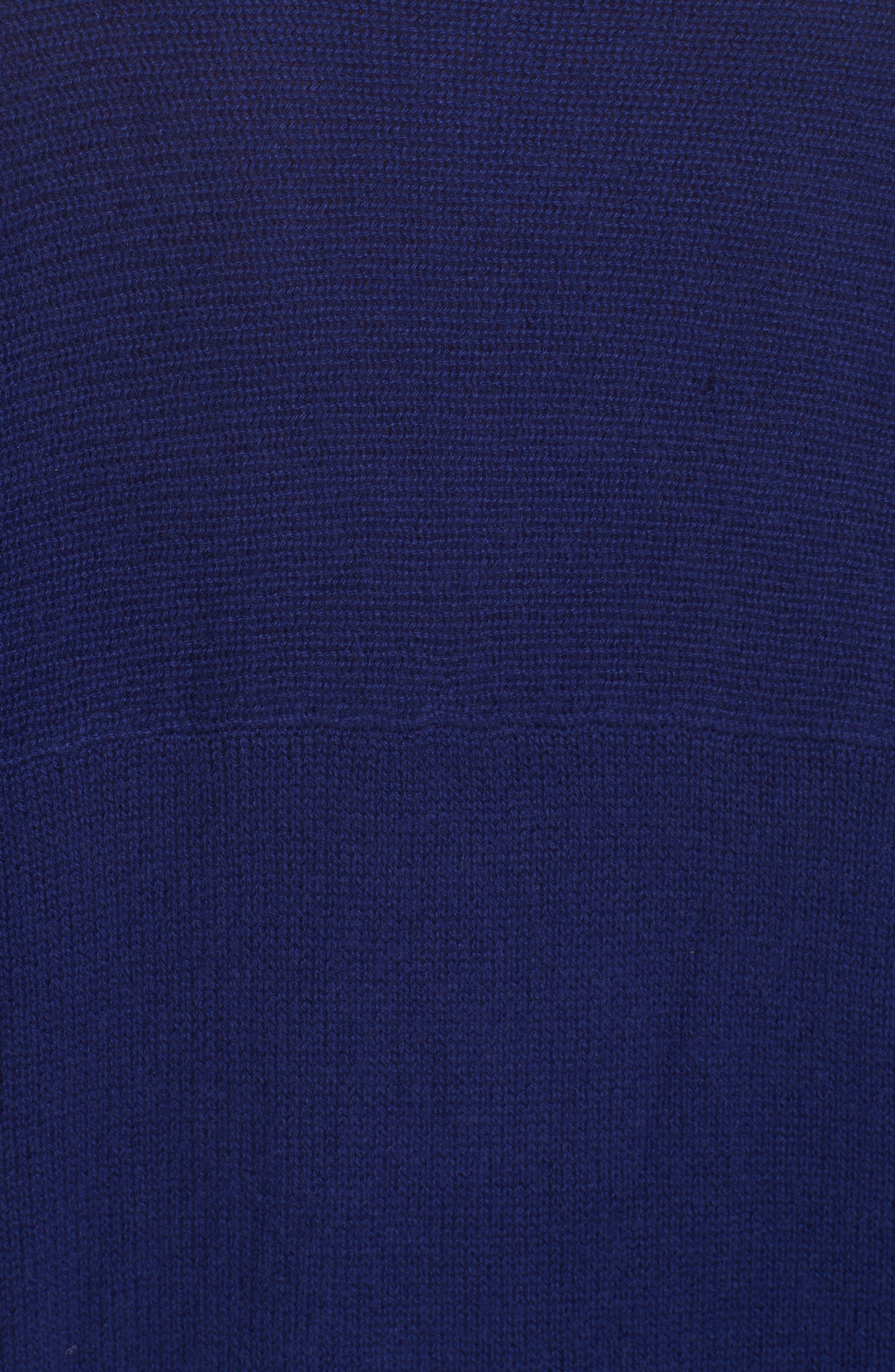 Cashmere Sweater,                             Alternate thumbnail 5, color,                             PERSIAN BLUE