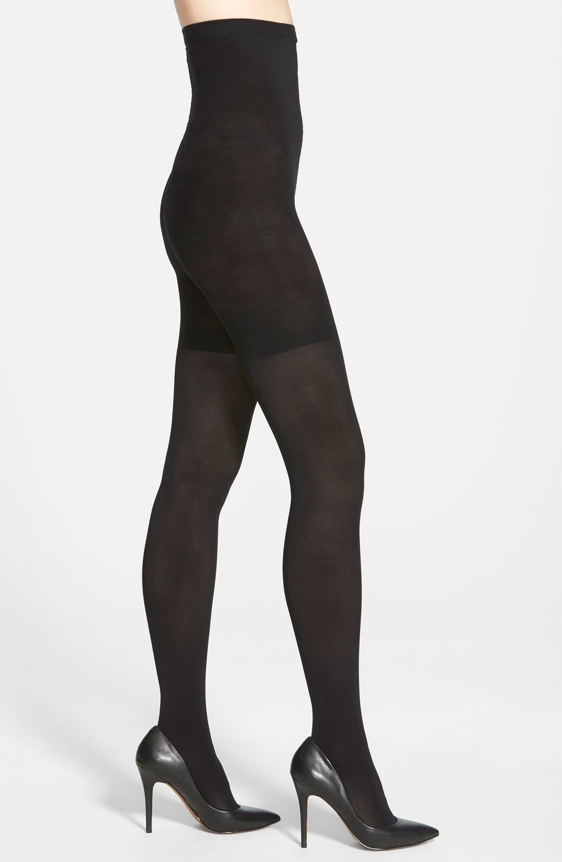 Luxe Tights,                             Main thumbnail 1, color,                             VERY BLACK