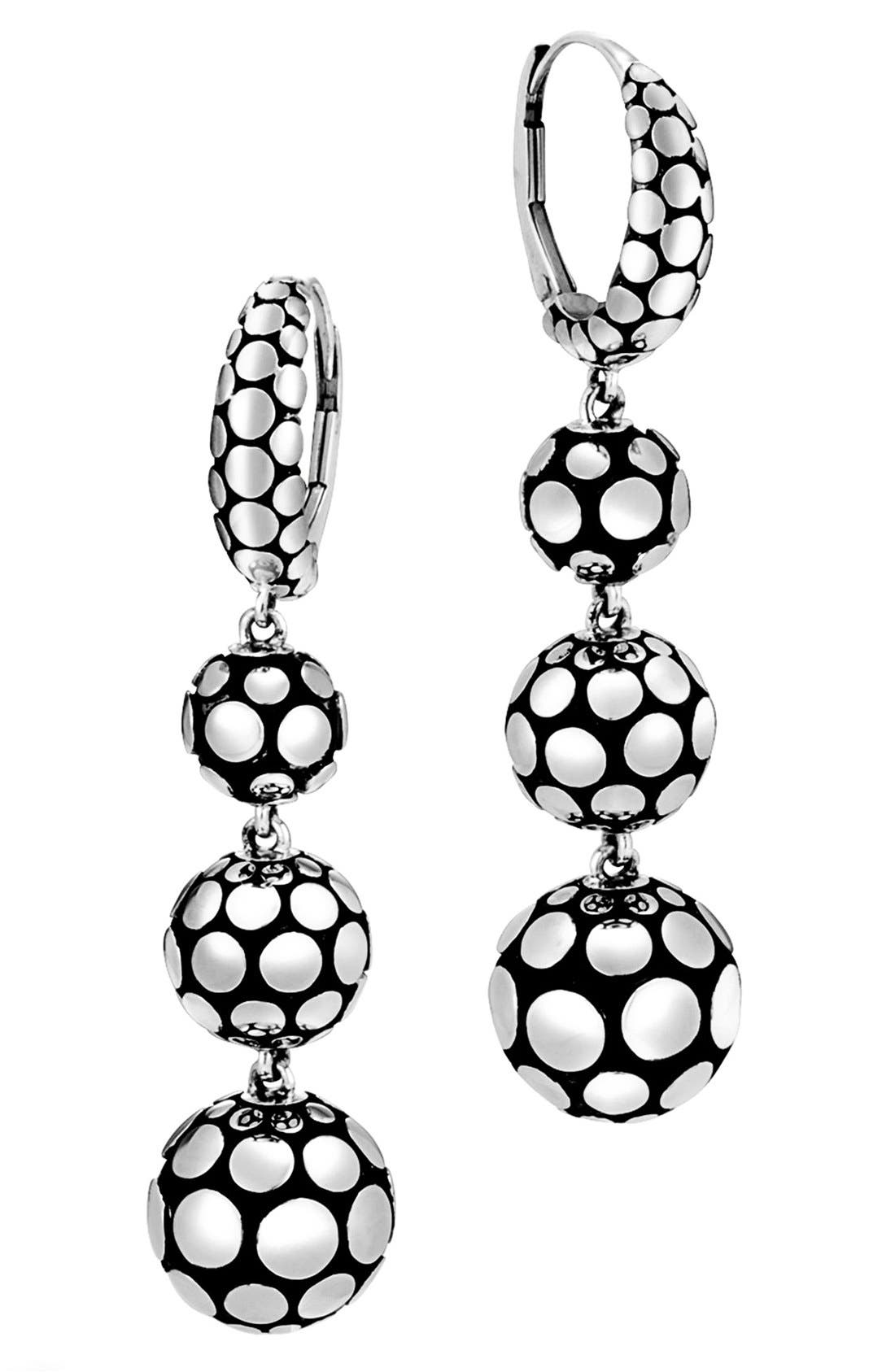 Dot Triple Drop Earrings,                         Main,                         color, 040