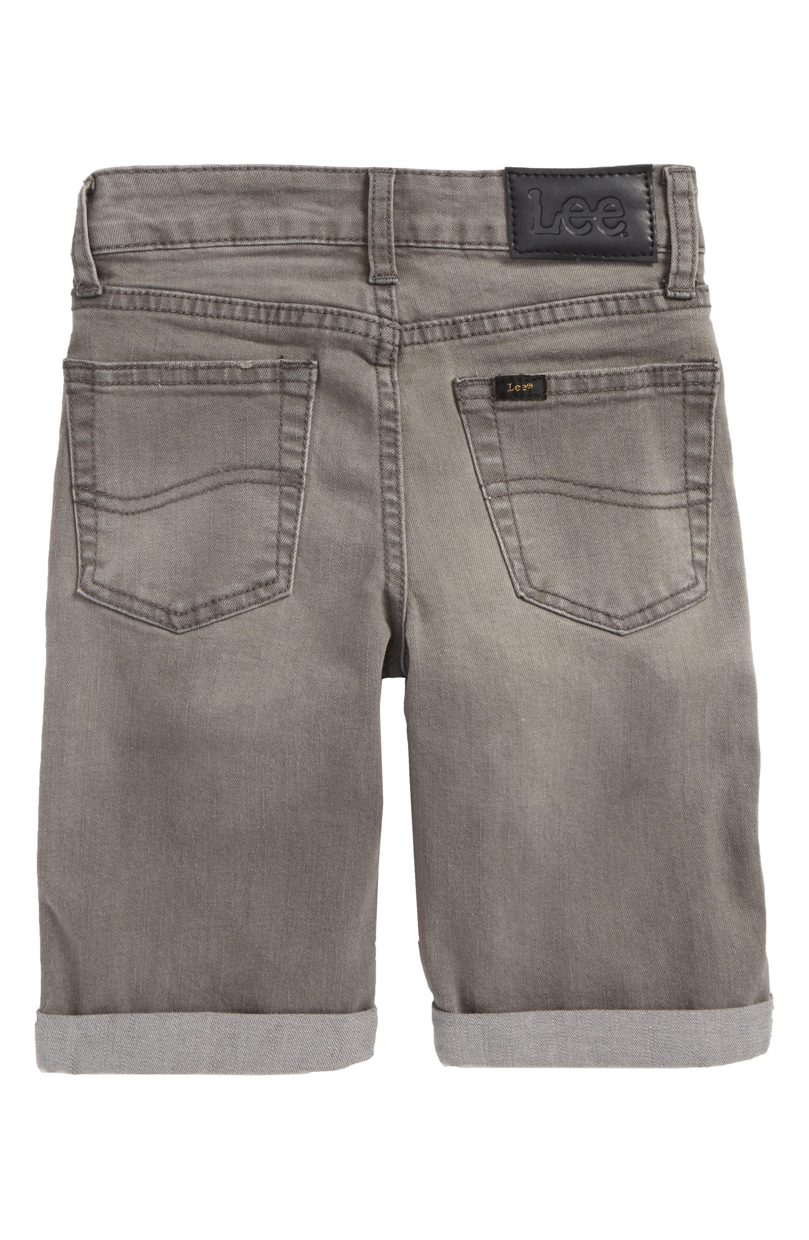 Stretch Denim Roll Cuff Shorts,                             Alternate thumbnail 2, color,                             060