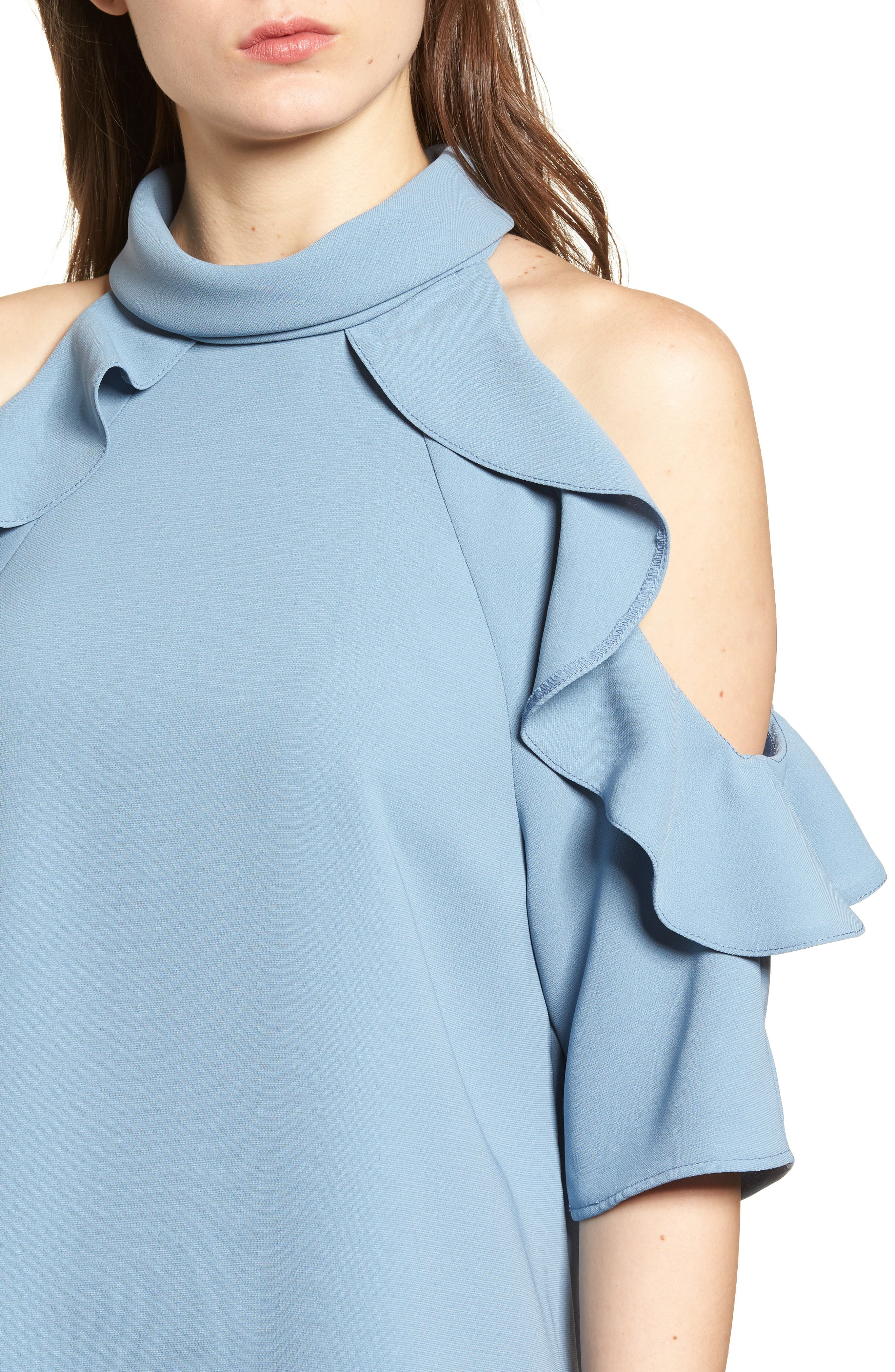 Ruffle Cold Shoulder Top,                             Alternate thumbnail 20, color,