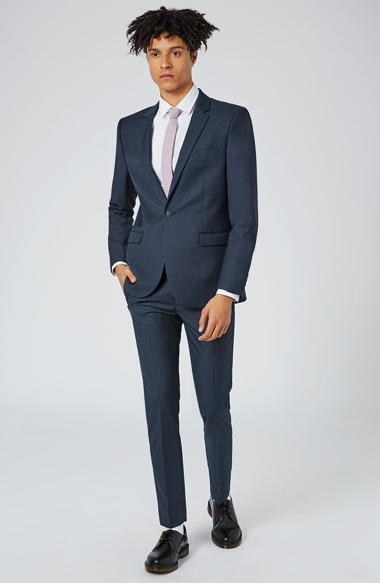 Skinny Fit Suit Jacket,                             Alternate thumbnail 7, color,                             420