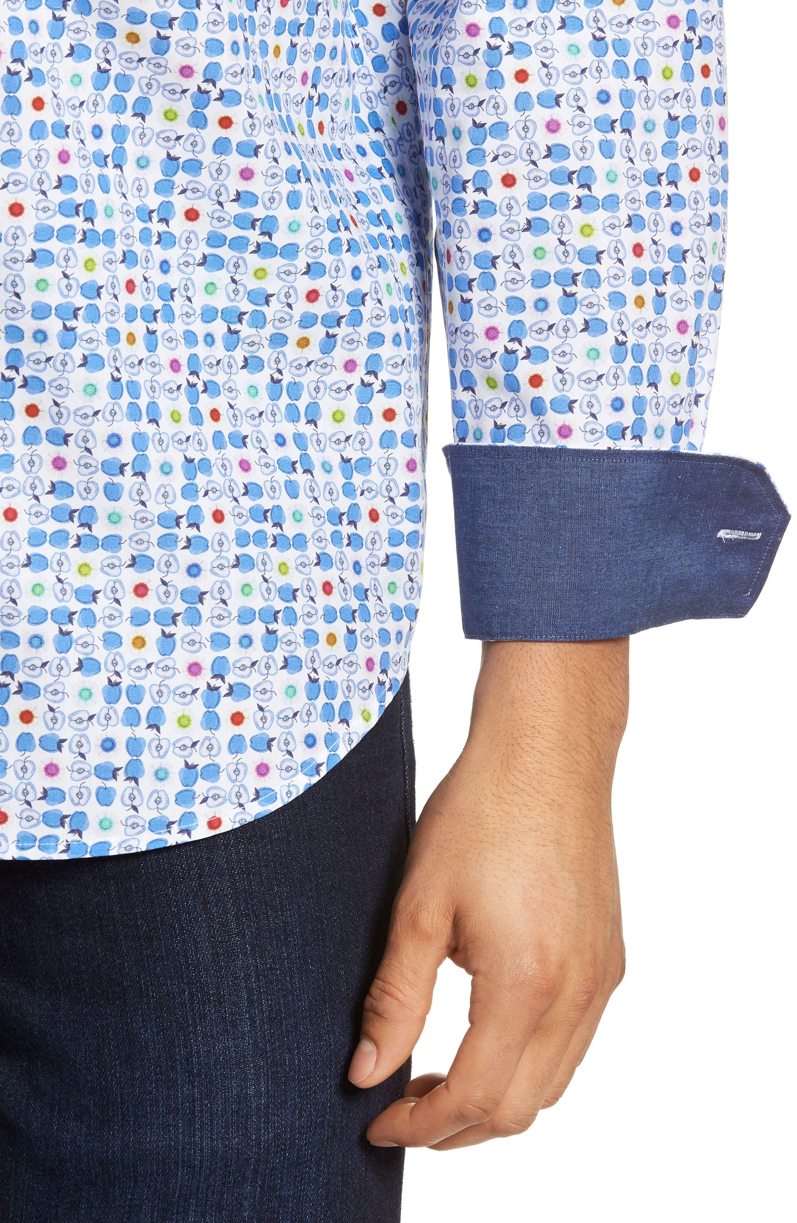 Classic Fit Sport Shirt,                             Alternate thumbnail 4, color,                             420