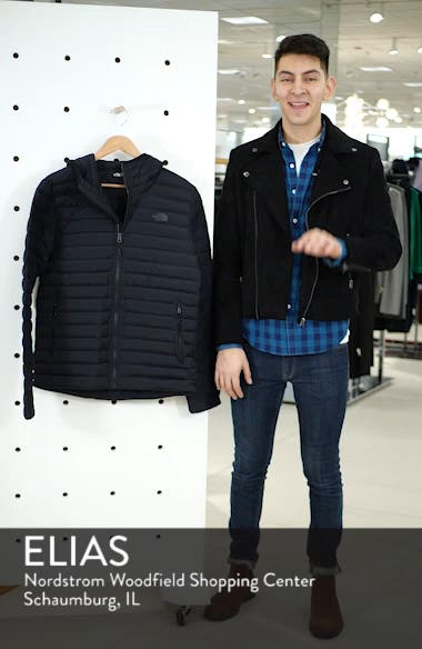 Packable Stretch Down Hooded Jacket, sales video thumbnail