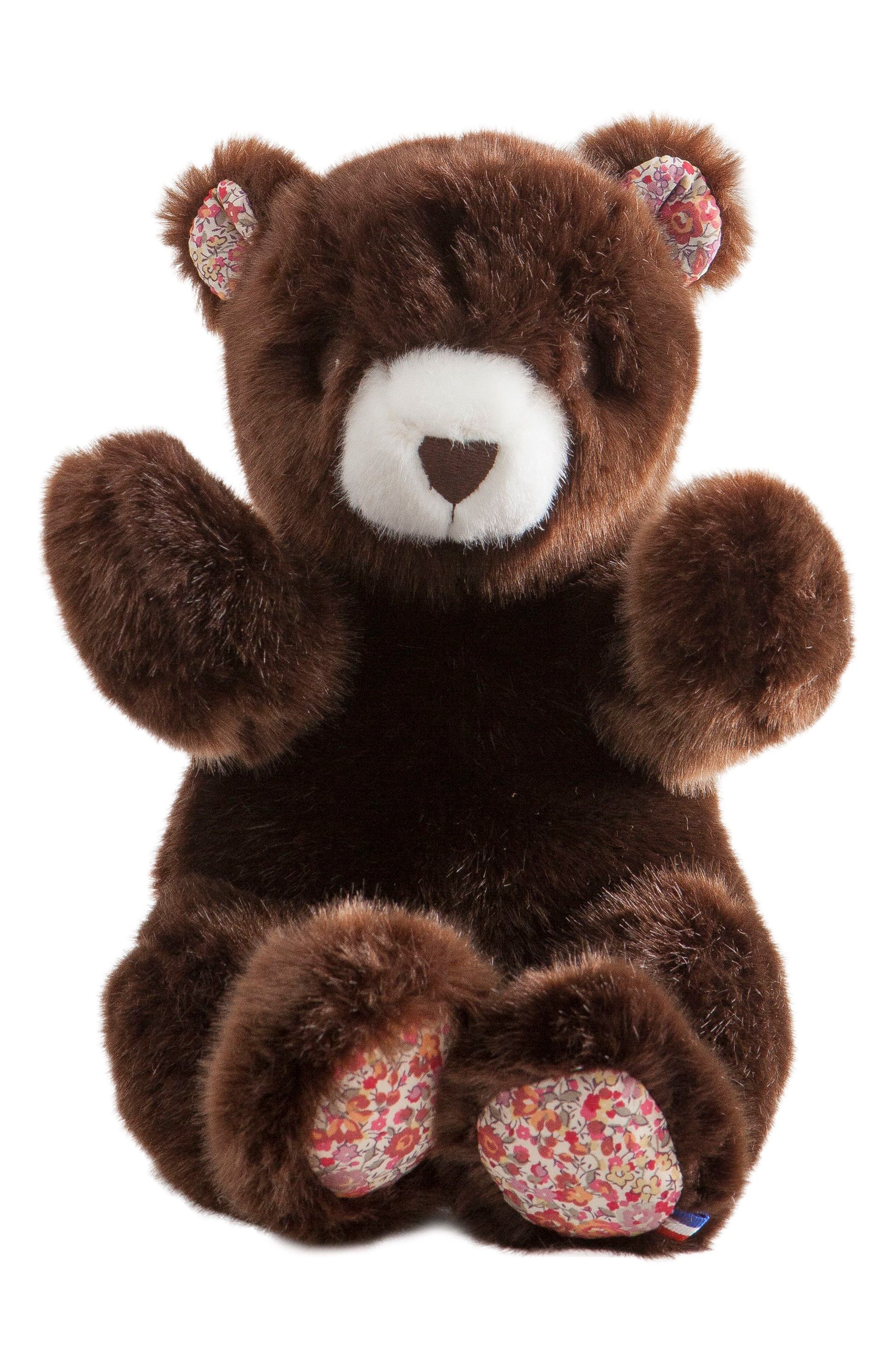 x Liberty of London Robert the Bear Stuffed Animal,                             Main thumbnail 1, color,                             BROWN