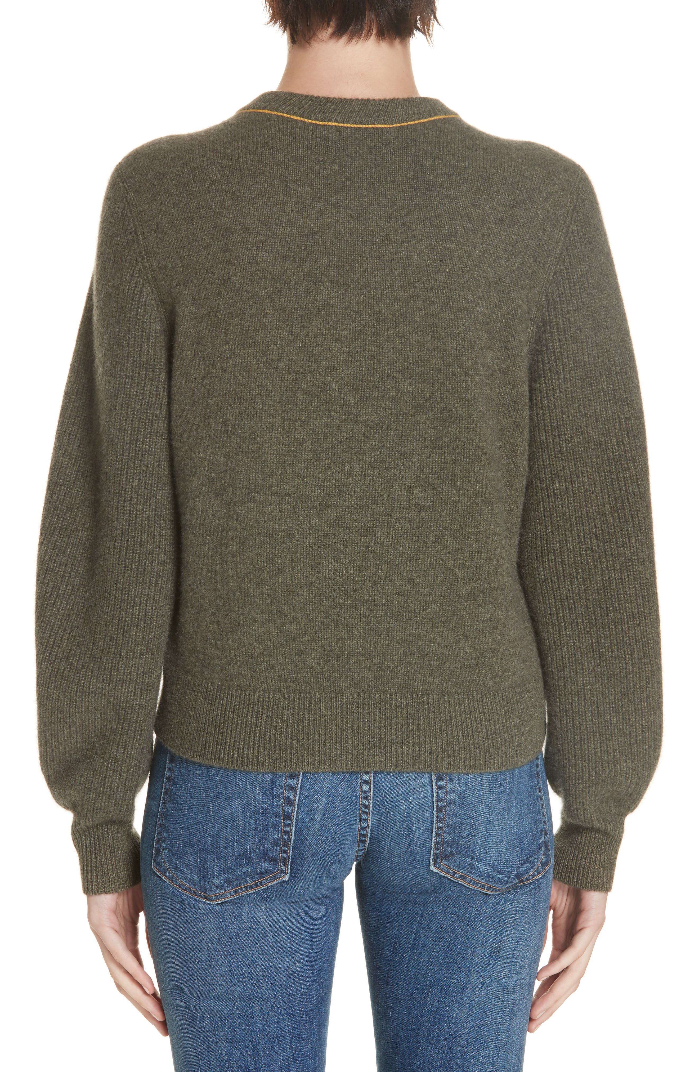 Yorke Cashmere Sweater,                             Alternate thumbnail 2, color,                             ARMY