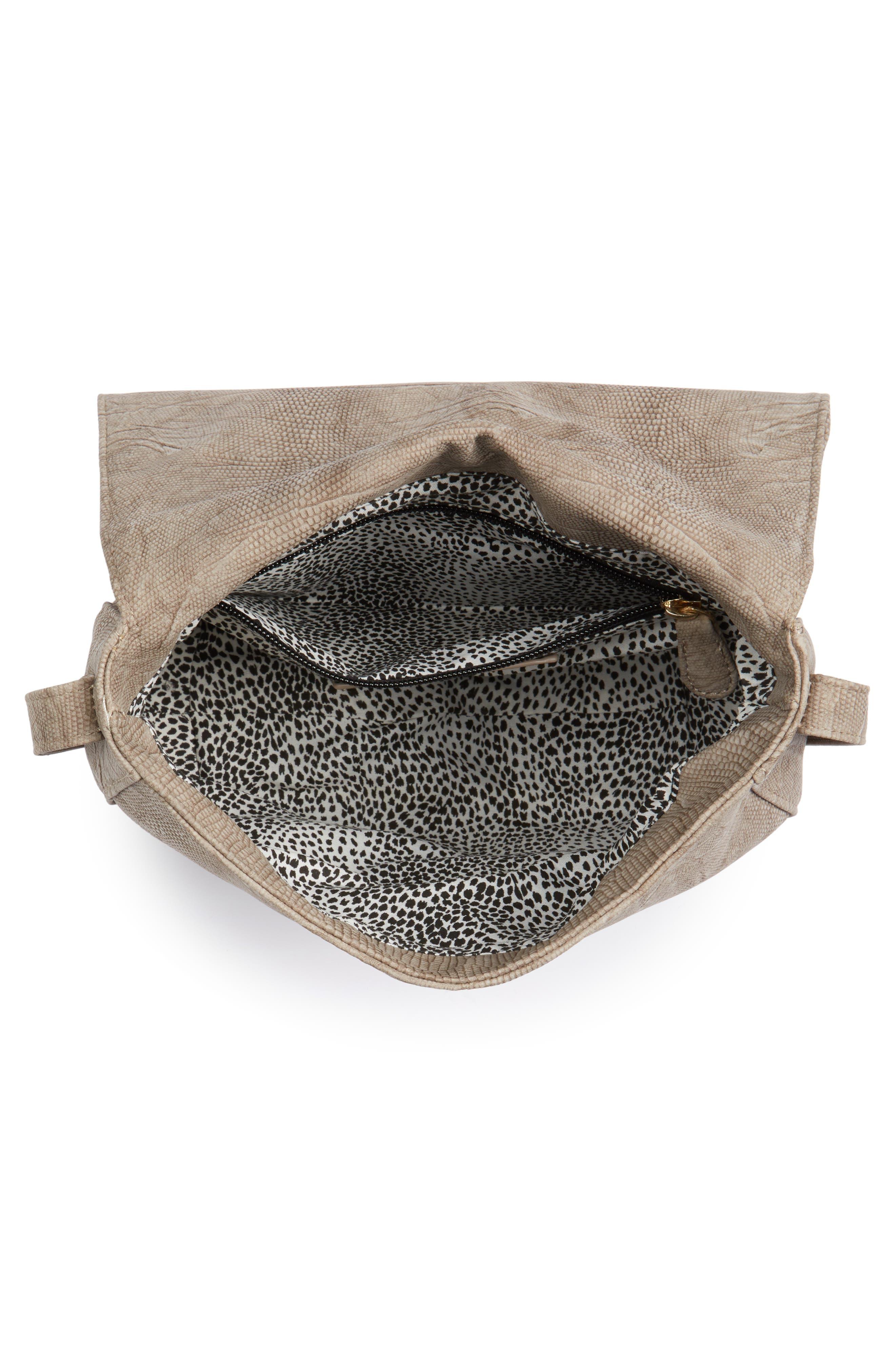 Livvy Faux Leather Crossbody Saddle Bag,                             Alternate thumbnail 4, color,                             250