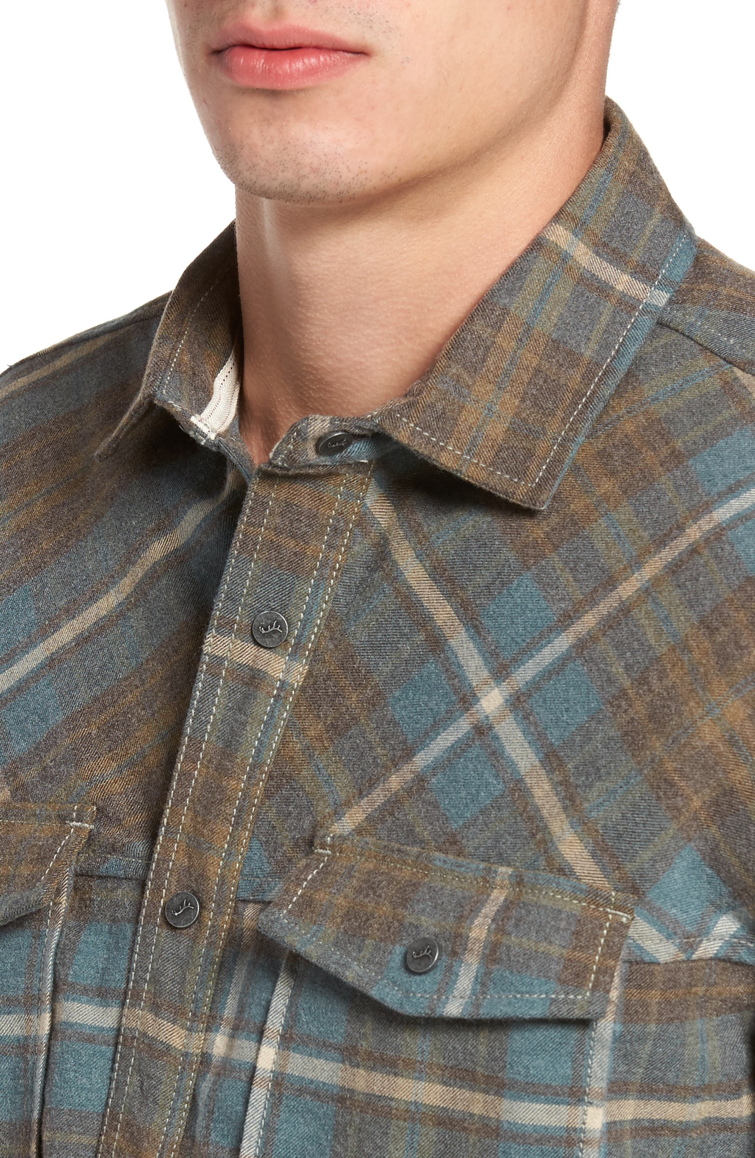 Ranger Plaid Shirt,                             Alternate thumbnail 4, color,                             424