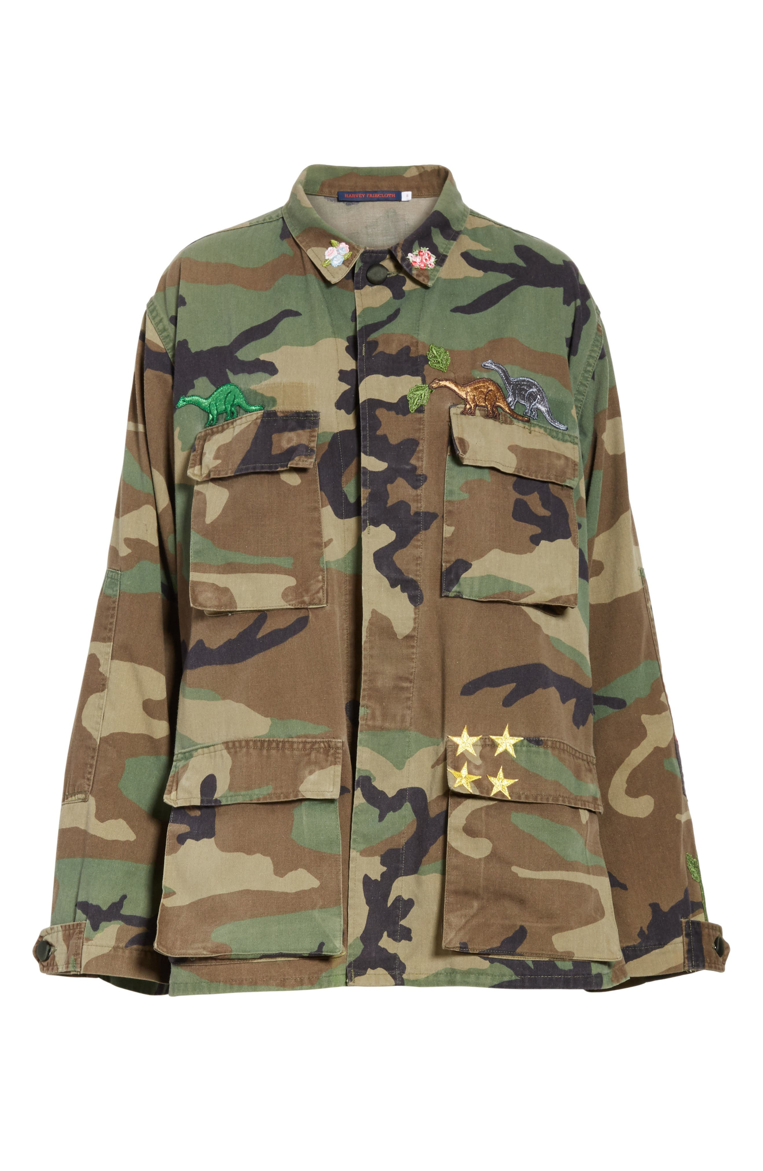 Vintage Woodland Camo Jacket,                             Alternate thumbnail 5, color,                             300