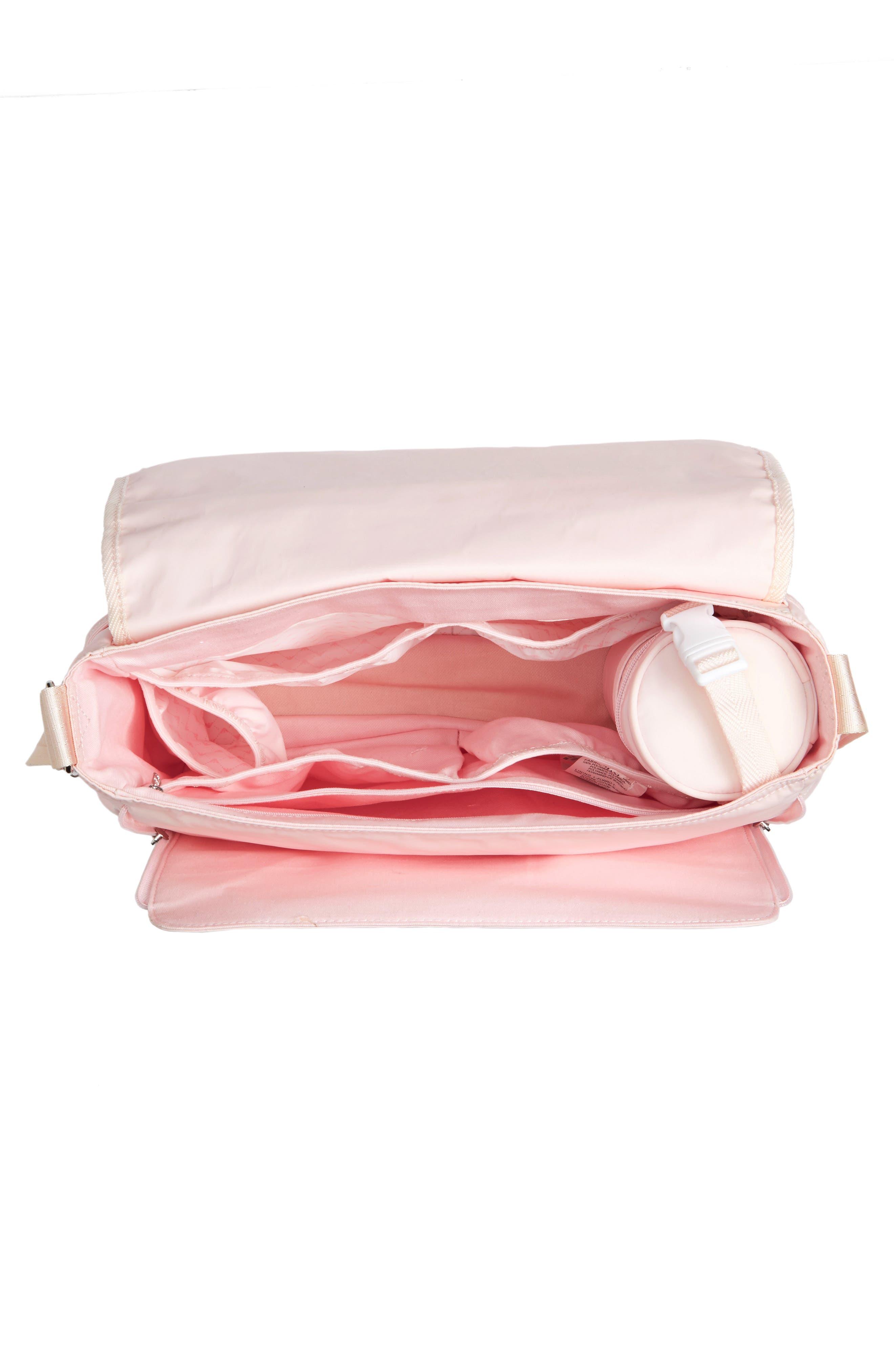 Nylon Messenger Diaper Bag,                             Alternate thumbnail 16, color,