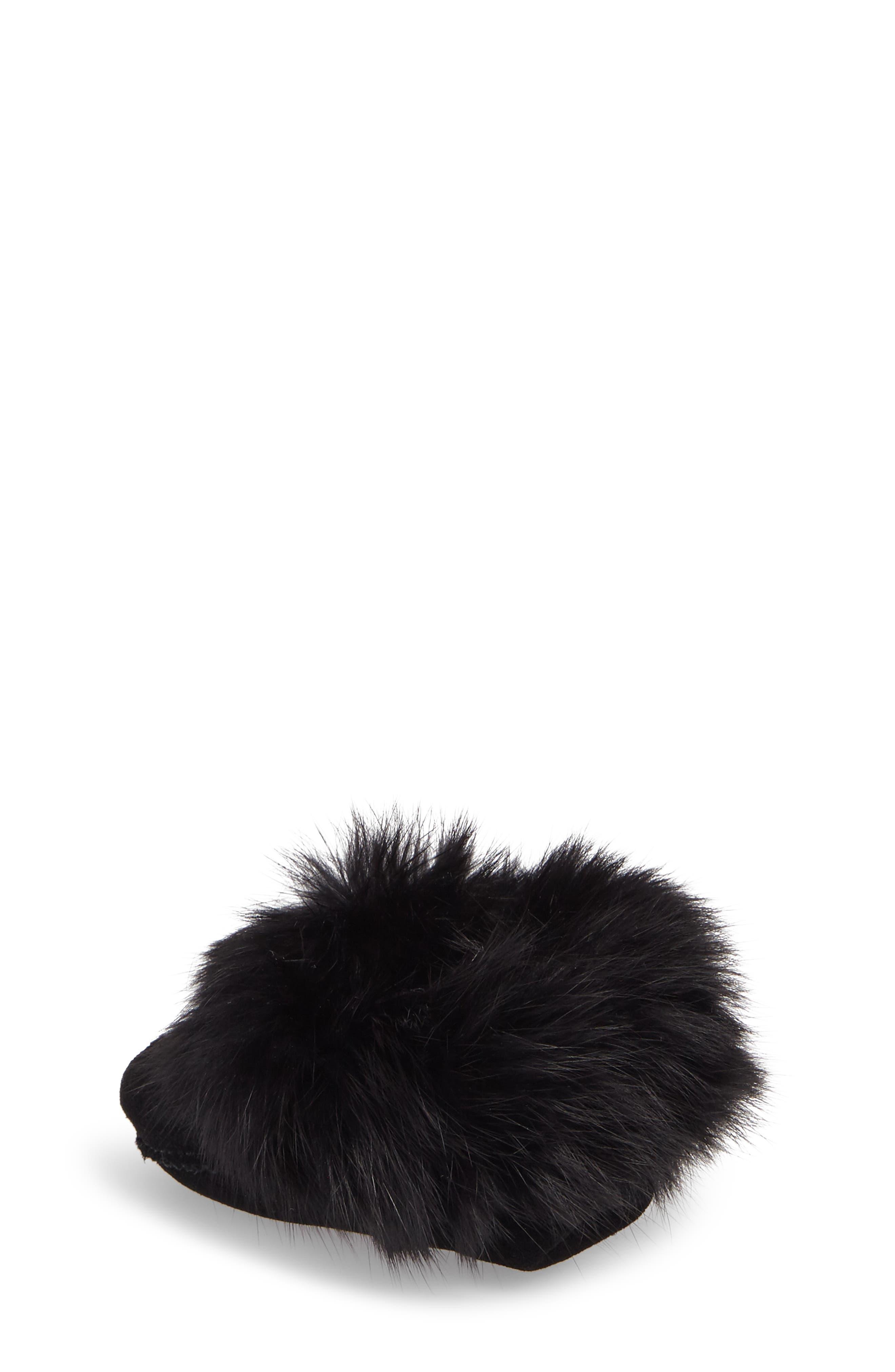 Genuine Rabbit Fur Moccasin,                             Alternate thumbnail 7, color,